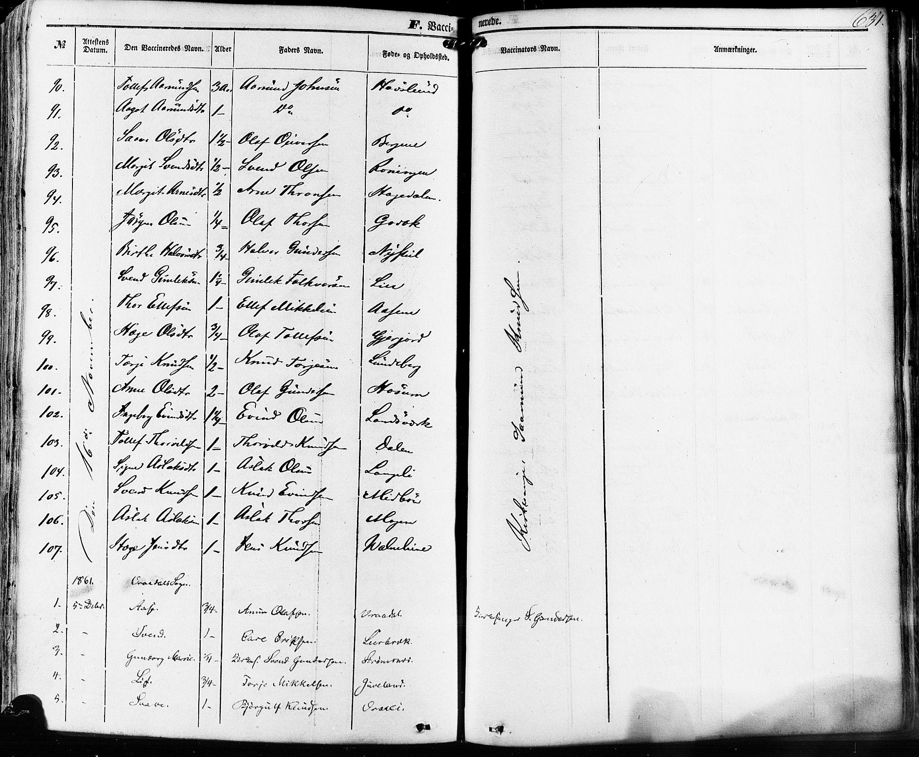 SAKO, Kviteseid kirkebøker, F/Fa/L0007: Ministerialbok nr. I 7, 1859-1881, s. 631