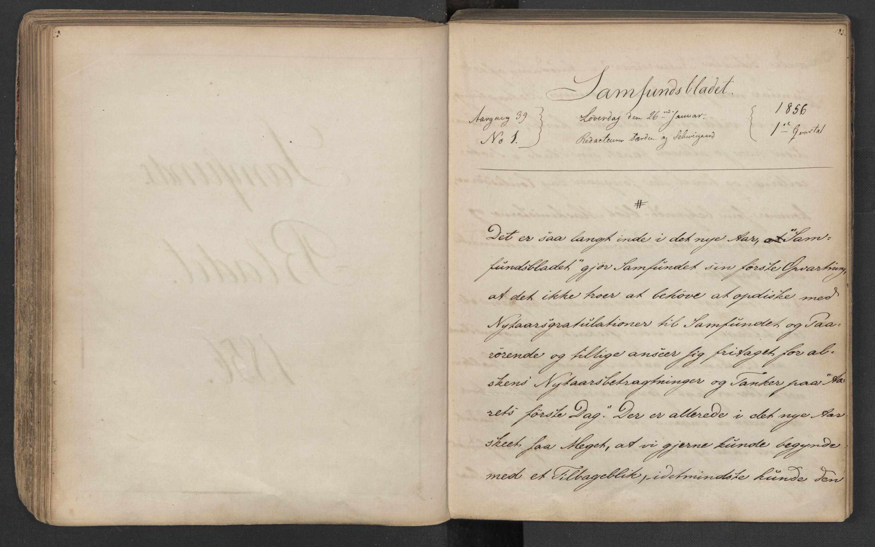 RA, Det Norske Studentersamfund, X/Xa/L0005, 1855-1856, s. 93