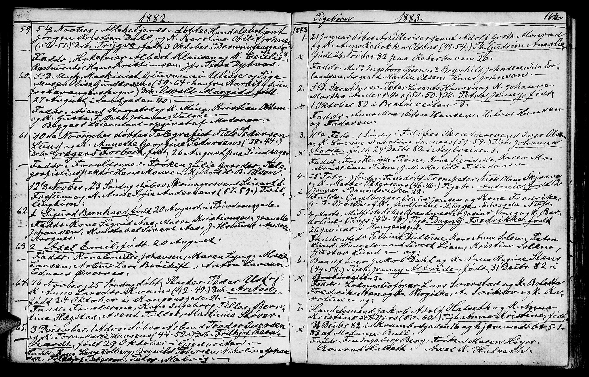 SAT, Ministerialprotokoller, klokkerbøker og fødselsregistre - Sør-Trøndelag, 602/L0142: Klokkerbok nr. 602C10, 1872-1894, s. 164