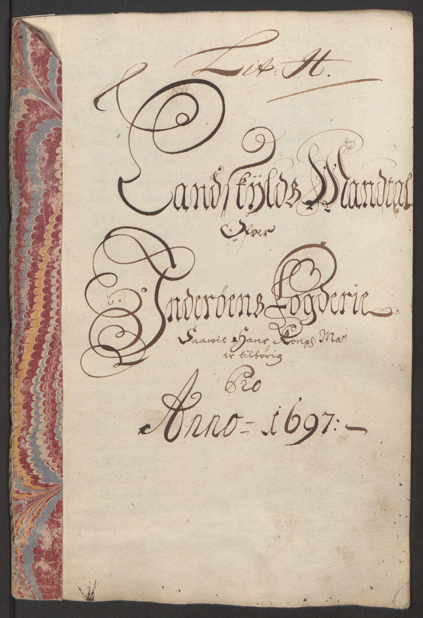 RA, Rentekammeret inntil 1814, Reviderte regnskaper, Fogderegnskap, R63/L4309: Fogderegnskap Inderøy, 1695-1697, s. 460