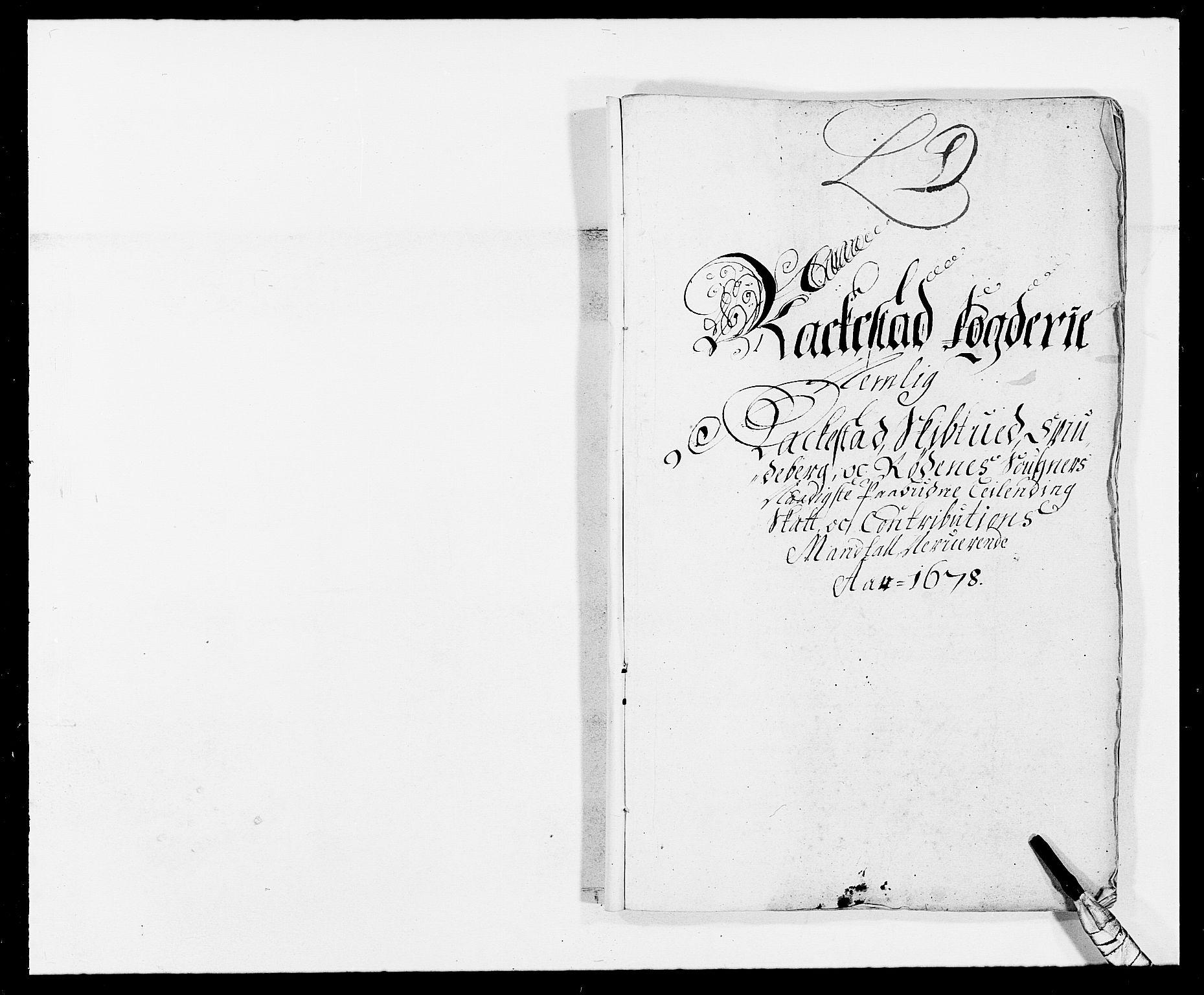 RA, Rentekammeret inntil 1814, Reviderte regnskaper, Fogderegnskap, R05/L0271: Fogderegnskap Rakkestad, 1678-1679, s. 63