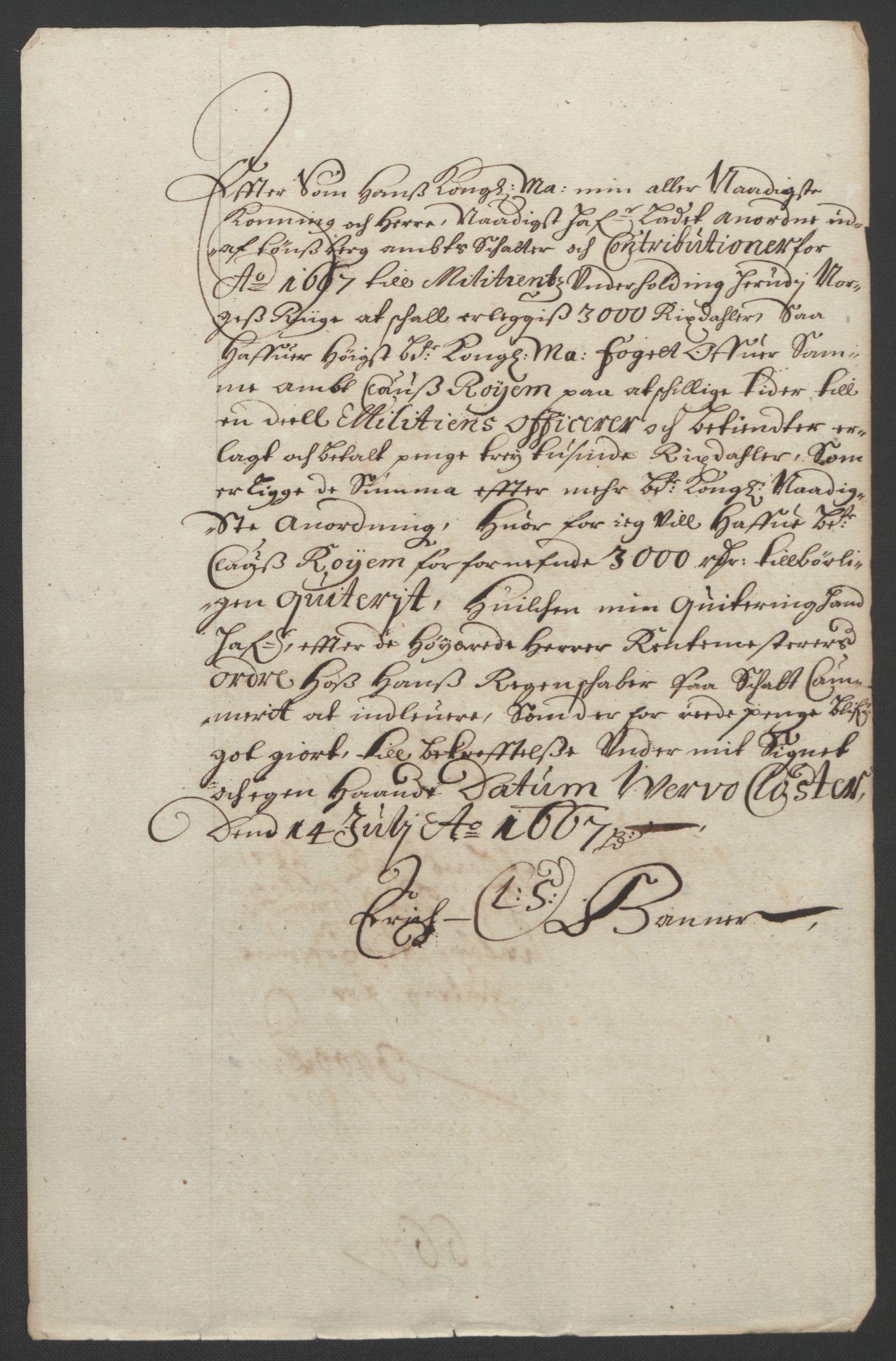 RA, Rentekammeret inntil 1814, Reviderte regnskaper, Fogderegnskap, R32/L1842: Fogderegnskap Jarlsberg grevskap, 1664-1673, s. 83