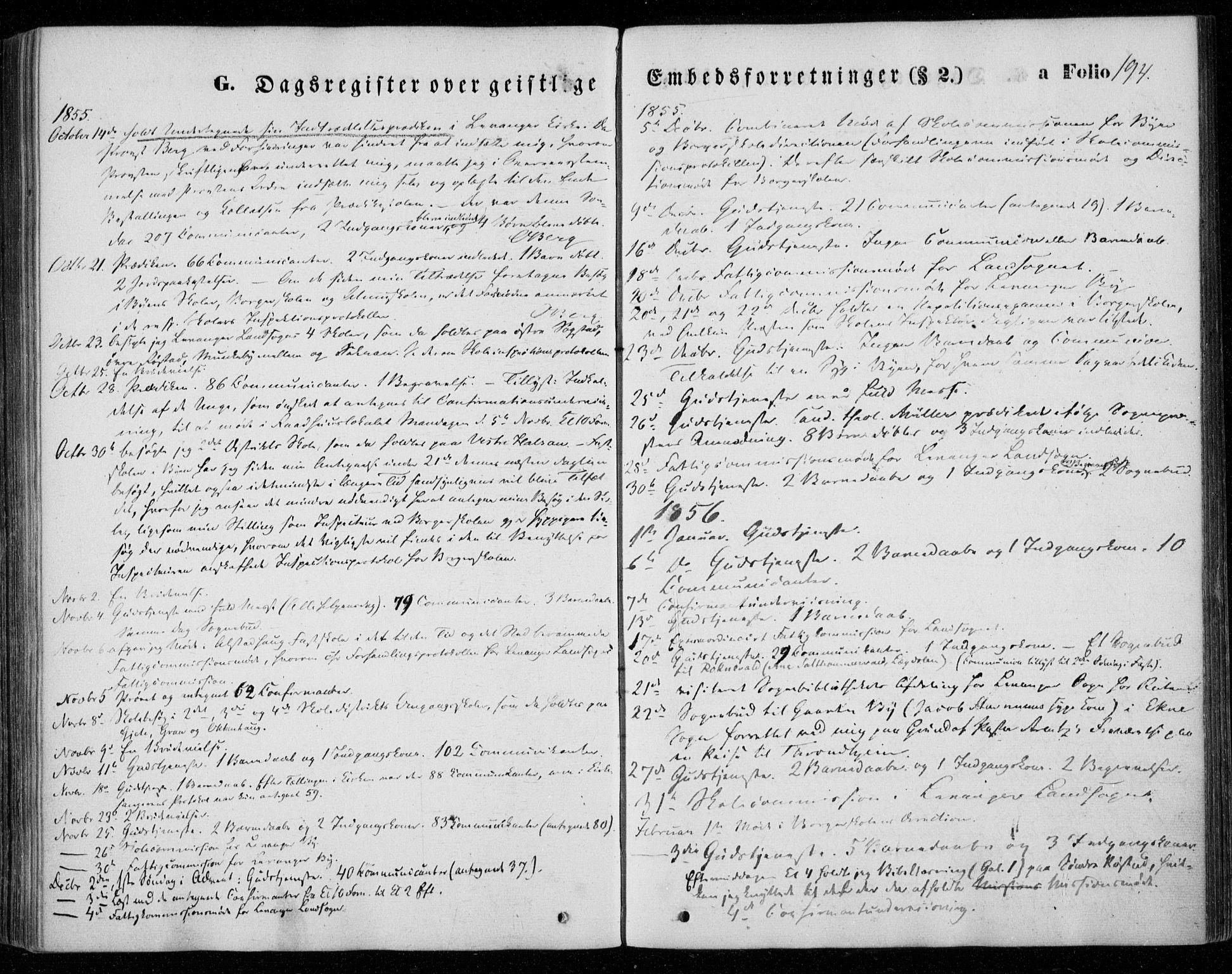 SAT, Ministerialprotokoller, klokkerbøker og fødselsregistre - Nord-Trøndelag, 720/L0184: Ministerialbok nr. 720A02 /1, 1855-1863, s. 194