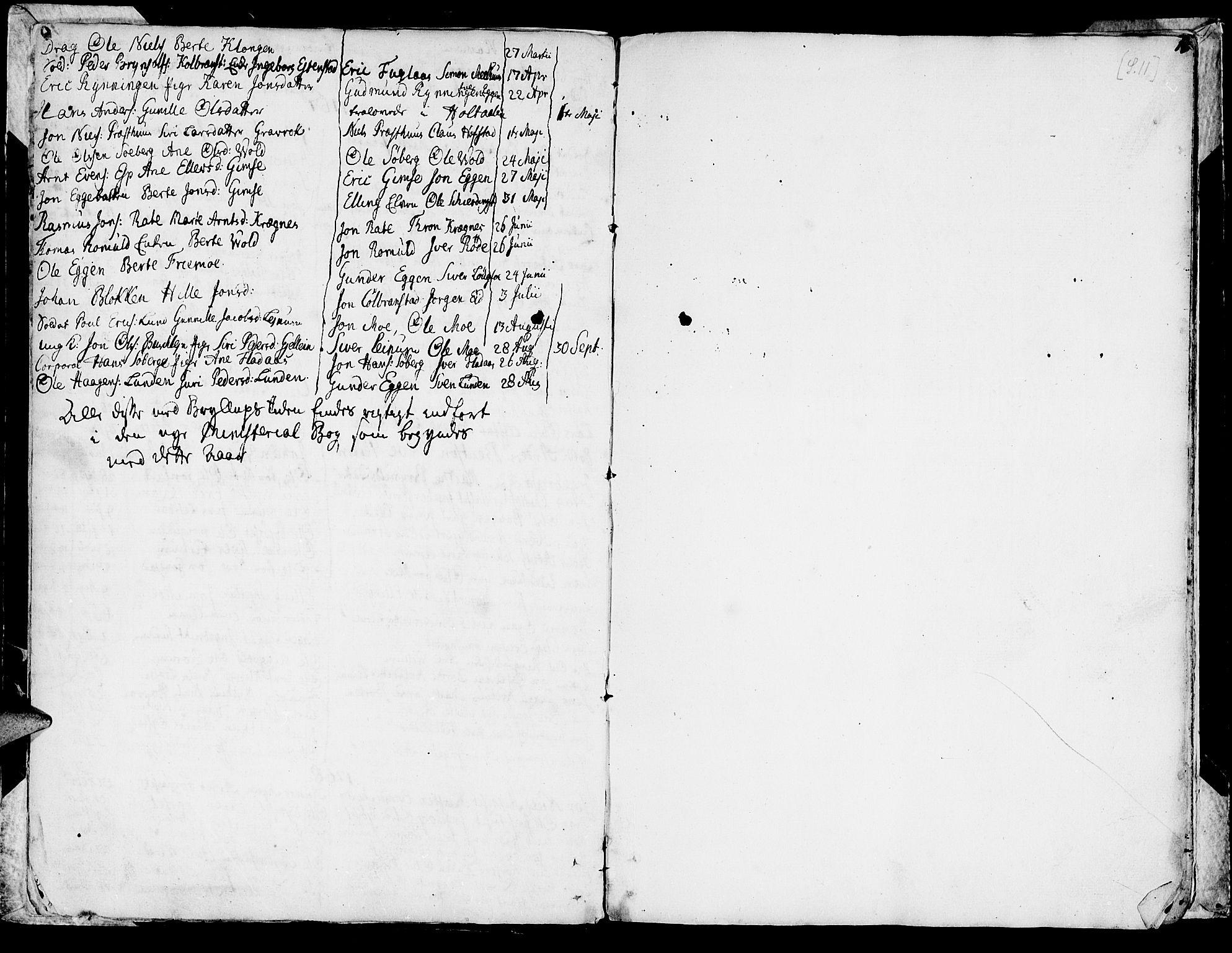 SAT, Ministerialprotokoller, klokkerbøker og fødselsregistre - Sør-Trøndelag, 691/L1057: Ministerialbok nr. 691A01 /1, 1740-1767, s. 11