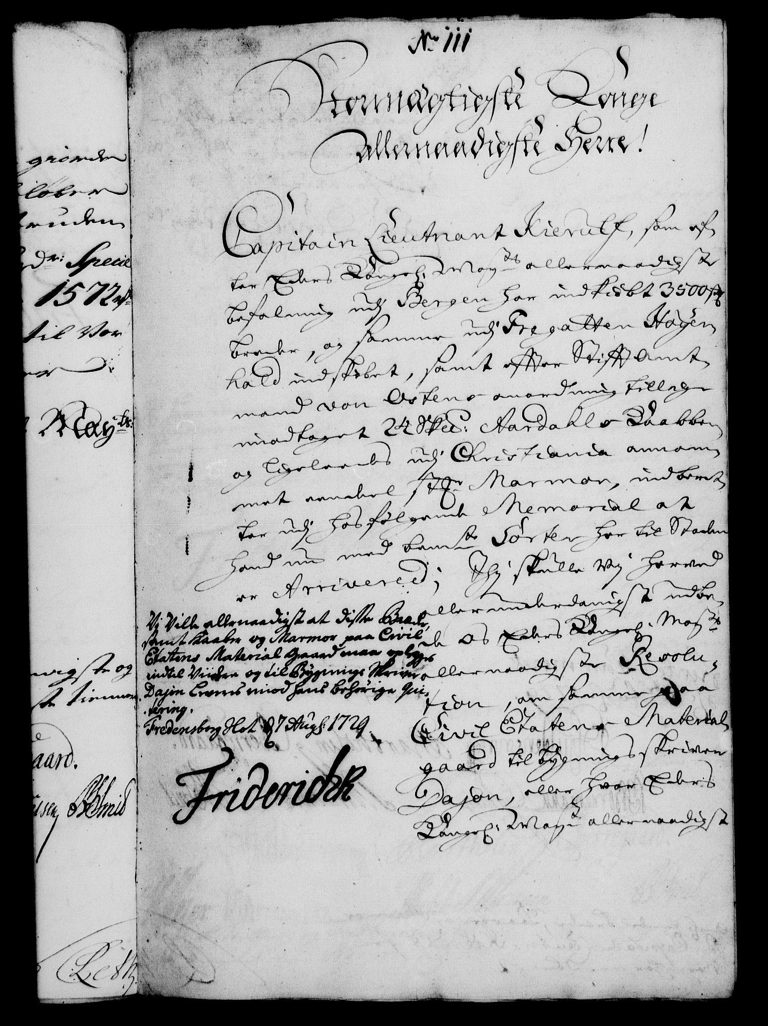 RA, Rentekammeret, Kammerkanselliet, G/Gf/Gfa/L0012: Norsk relasjons- og resolusjonsprotokoll (merket RK 52.12), 1729, s. 611