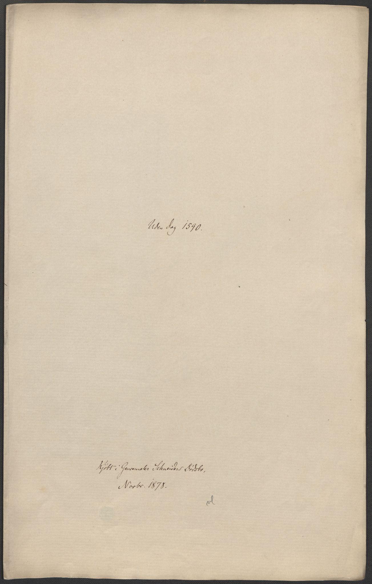 RA, Riksarkivets diplomsamling, F02/L0092: Dokumenter, 1590, s. 46