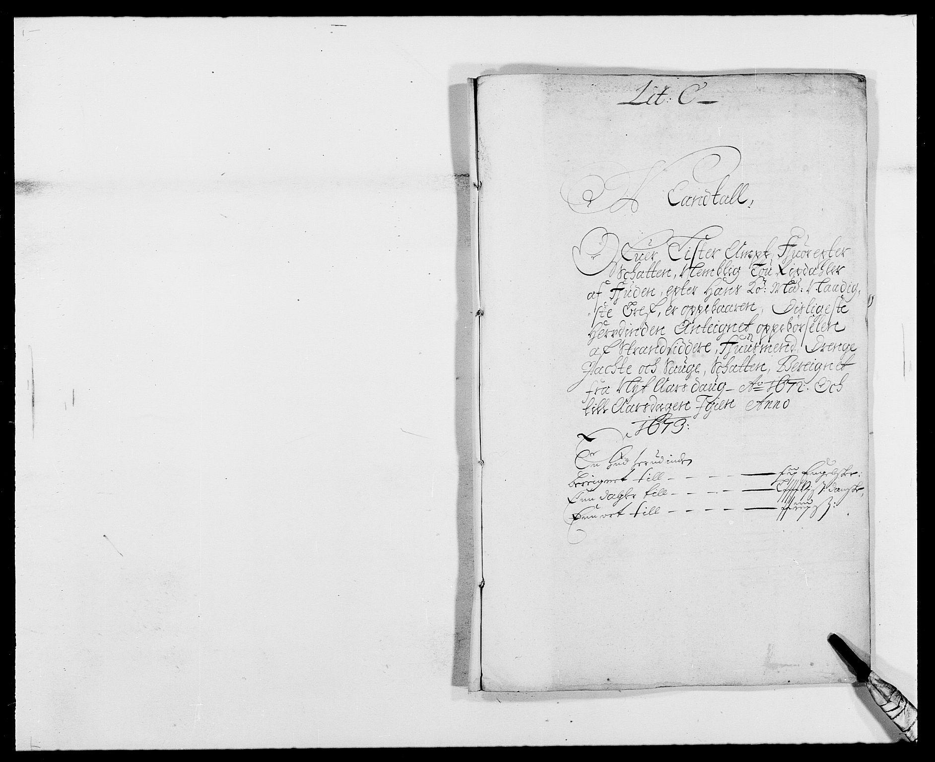 RA, Rentekammeret inntil 1814, Reviderte regnskaper, Fogderegnskap, R41/L2526: Fogderegnskap Lista, 1672, s. 96