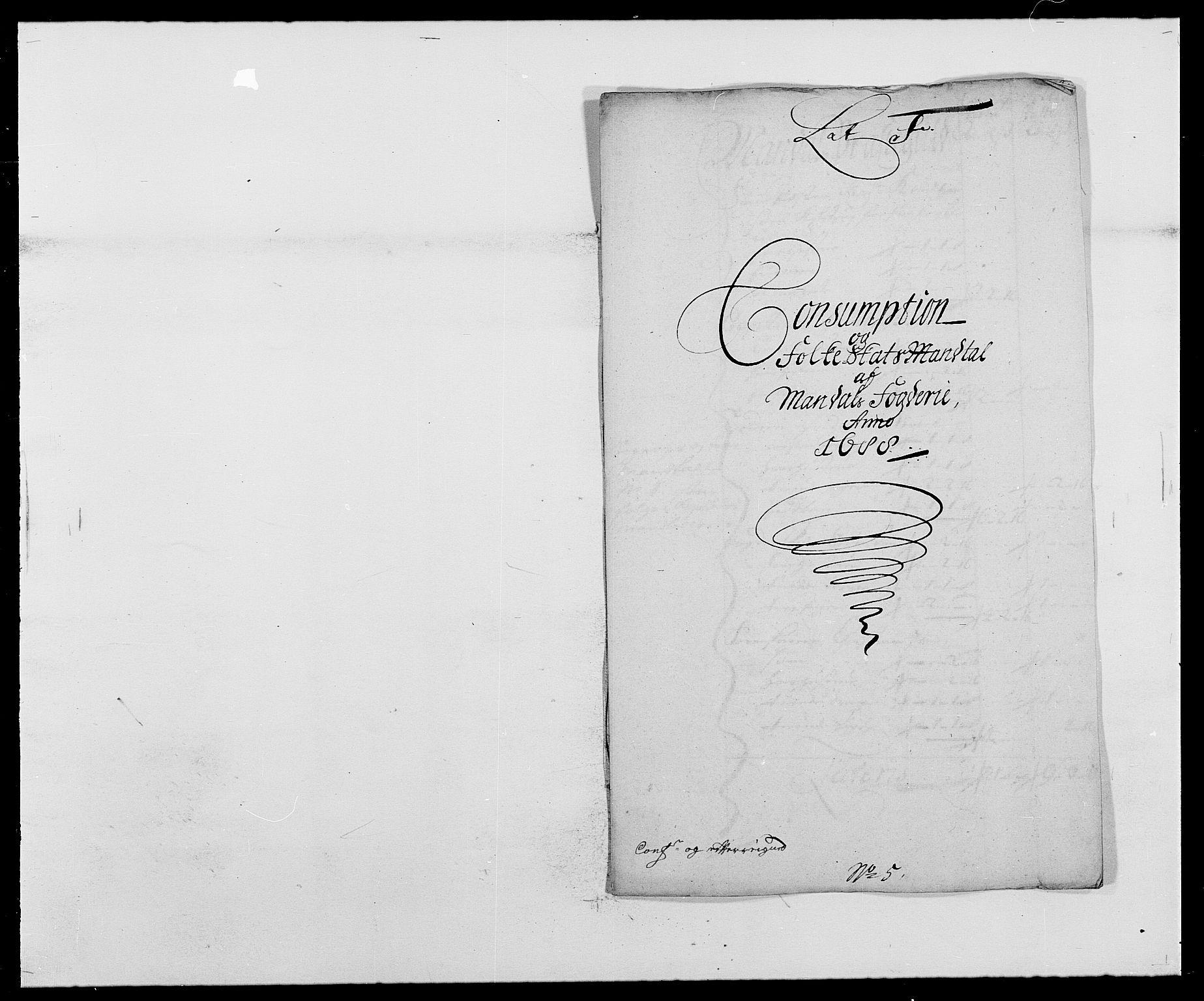 RA, Rentekammeret inntil 1814, Reviderte regnskaper, Fogderegnskap, R42/L2543: Mandal fogderi, 1688-1691, s. 80