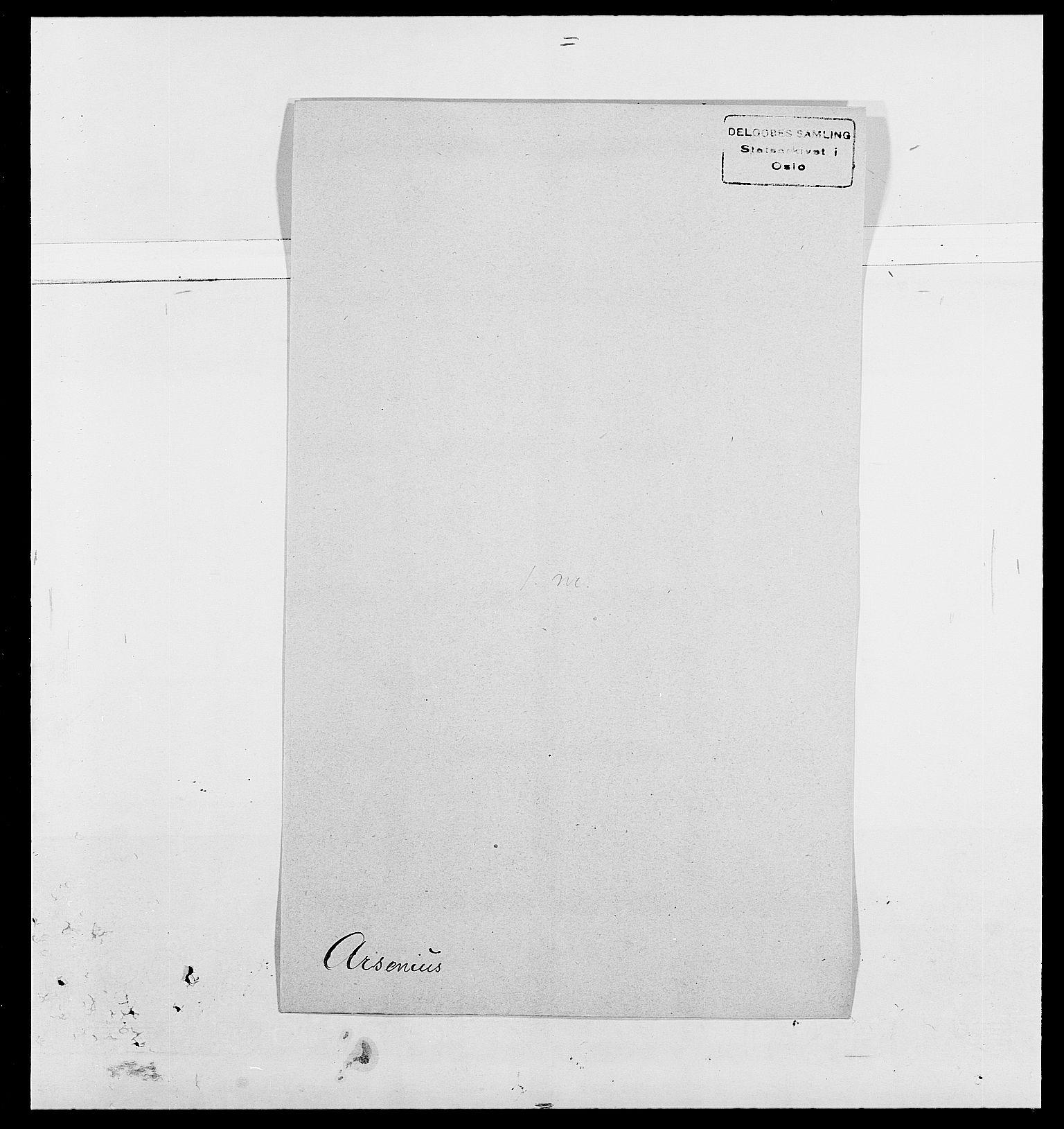 SAO, Delgobe, Charles Antoine - samling, D/Da/L0002: Anker, Ancher - Bauner, s. 371