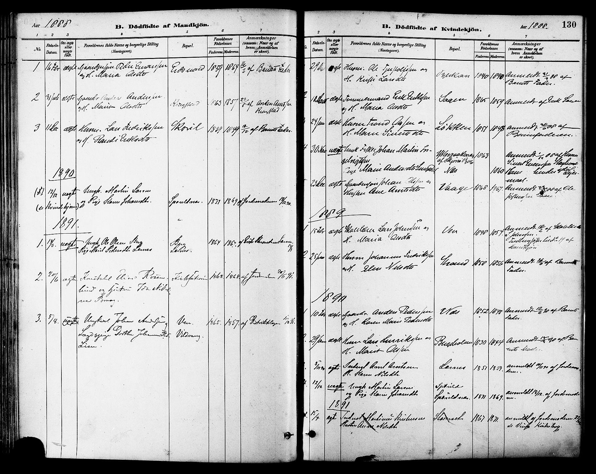 SAT, Ministerialprotokoller, klokkerbøker og fødselsregistre - Sør-Trøndelag, 630/L0496: Ministerialbok nr. 630A09, 1879-1895, s. 130