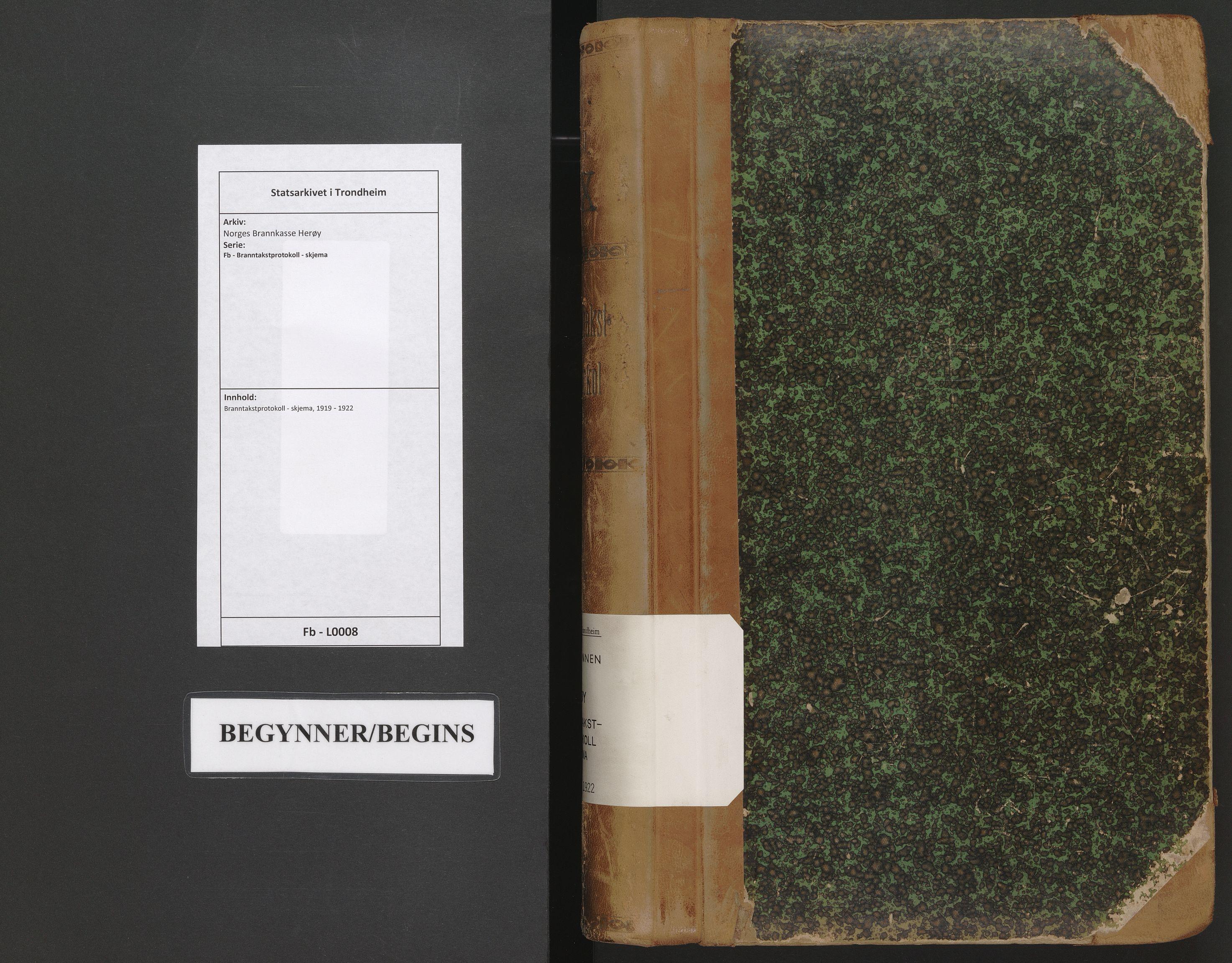 SAT, Norges Brannkasse Herøy, Fb/L0008: Branntakstprotokoll - skjema, 1919-1922