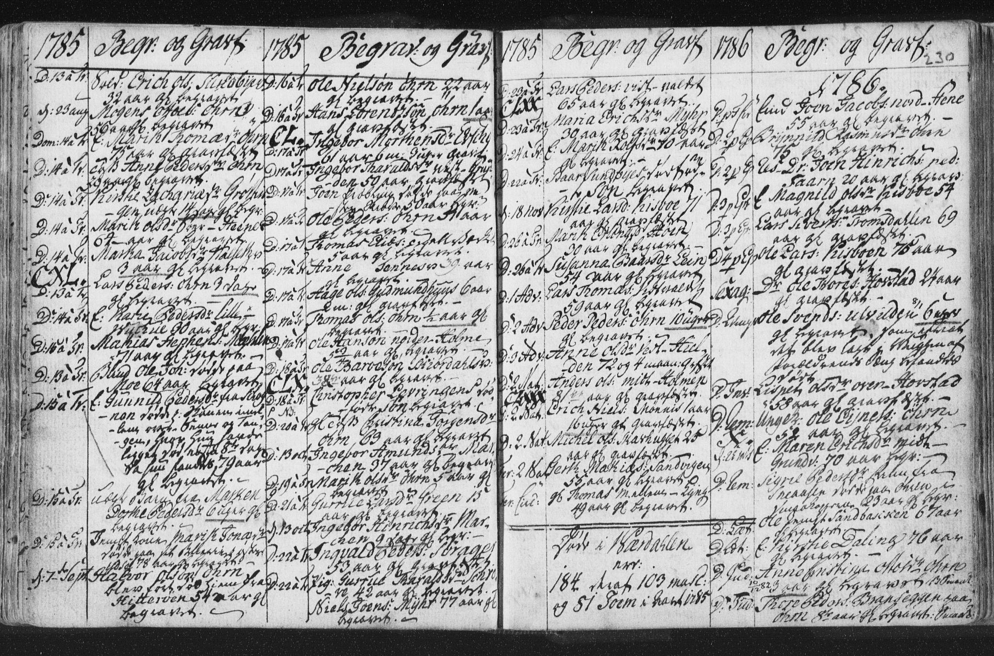 SAT, Ministerialprotokoller, klokkerbøker og fødselsregistre - Nord-Trøndelag, 723/L0232: Ministerialbok nr. 723A03, 1781-1804, s. 230
