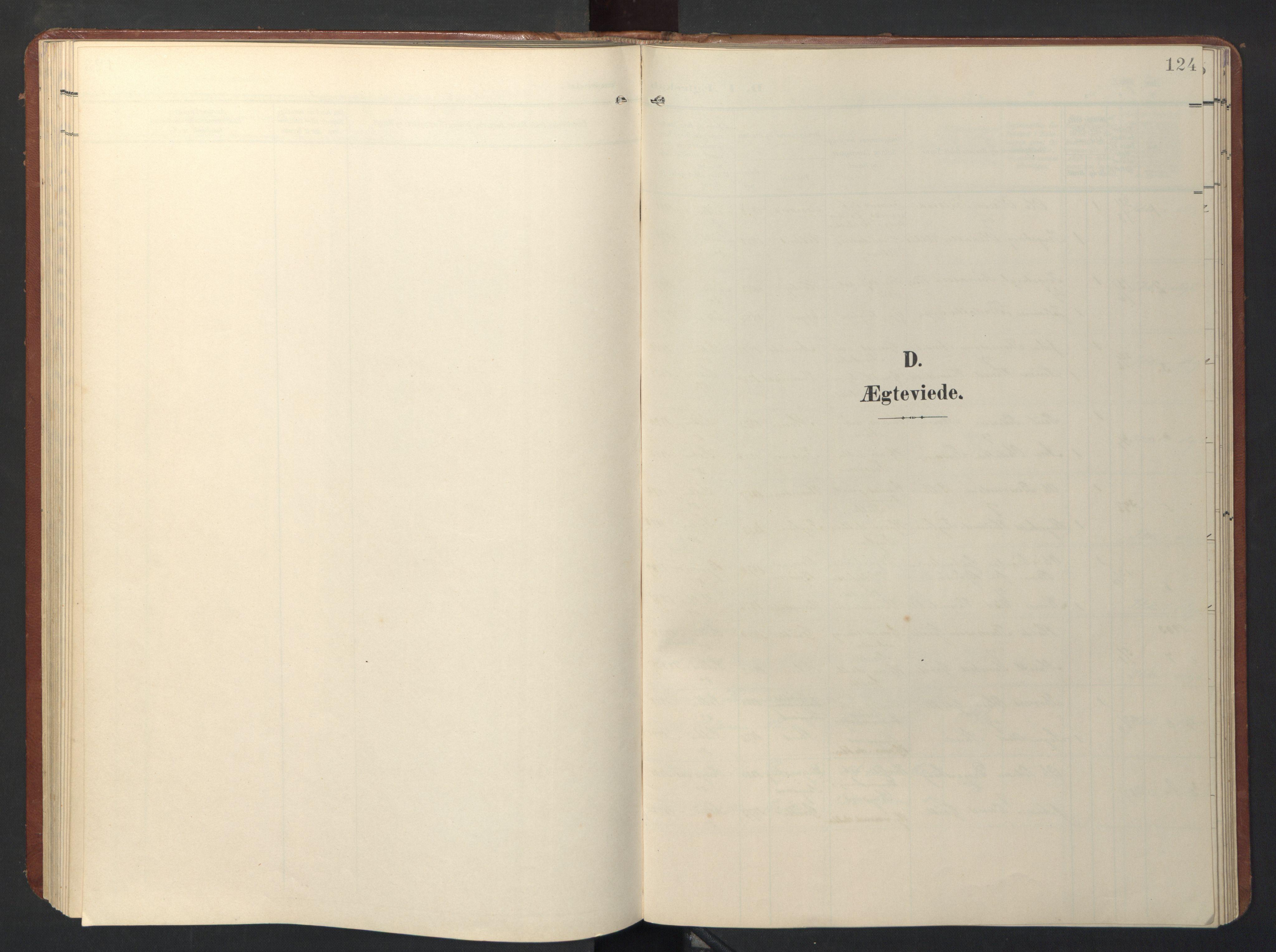 SAT, Ministerialprotokoller, klokkerbøker og fødselsregistre - Sør-Trøndelag, 696/L1161: Klokkerbok nr. 696C01, 1902-1950, s. 124