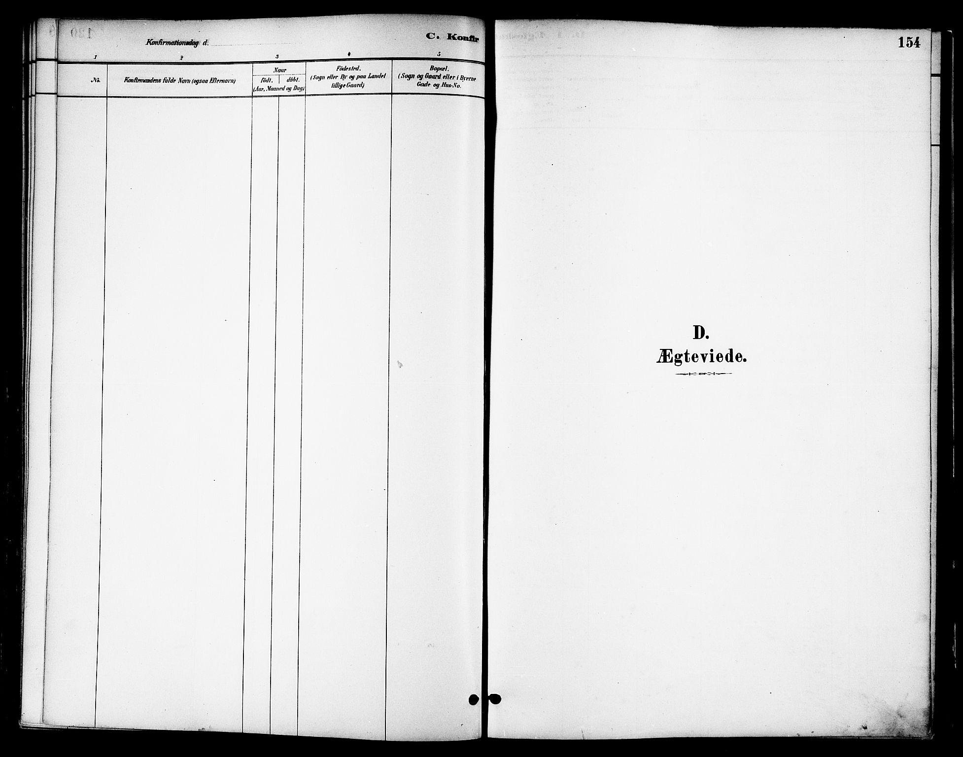 SAT, Ministerialprotokoller, klokkerbøker og fødselsregistre - Nord-Trøndelag, 739/L0371: Ministerialbok nr. 739A03, 1881-1895, s. 154