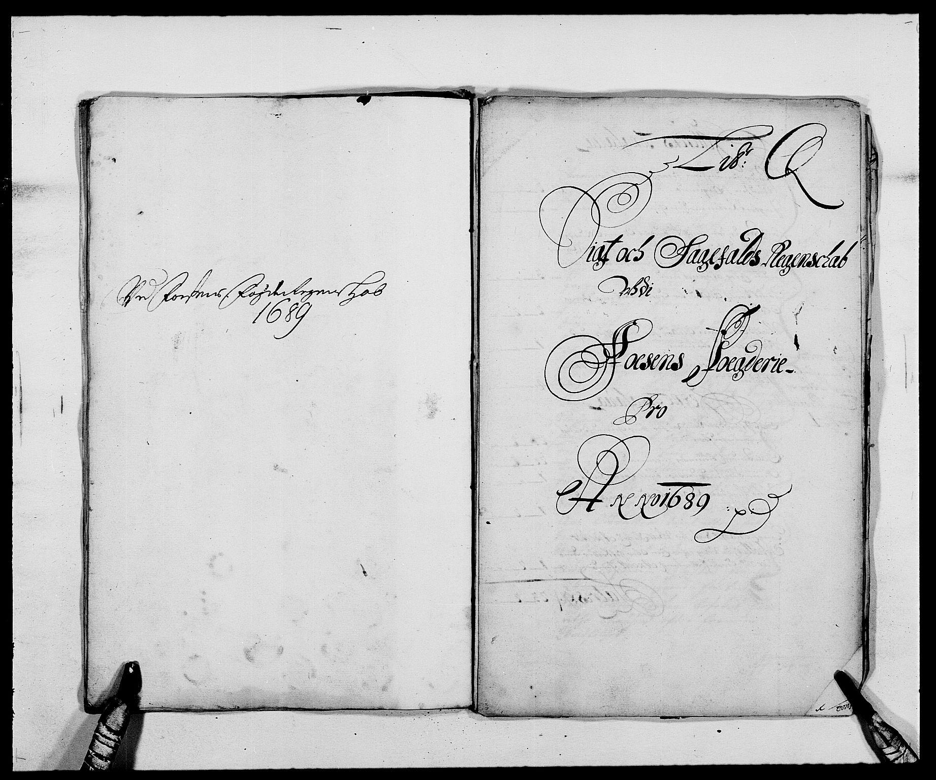 RA, Rentekammeret inntil 1814, Reviderte regnskaper, Fogderegnskap, R57/L3847: Fogderegnskap Fosen, 1689, s. 134