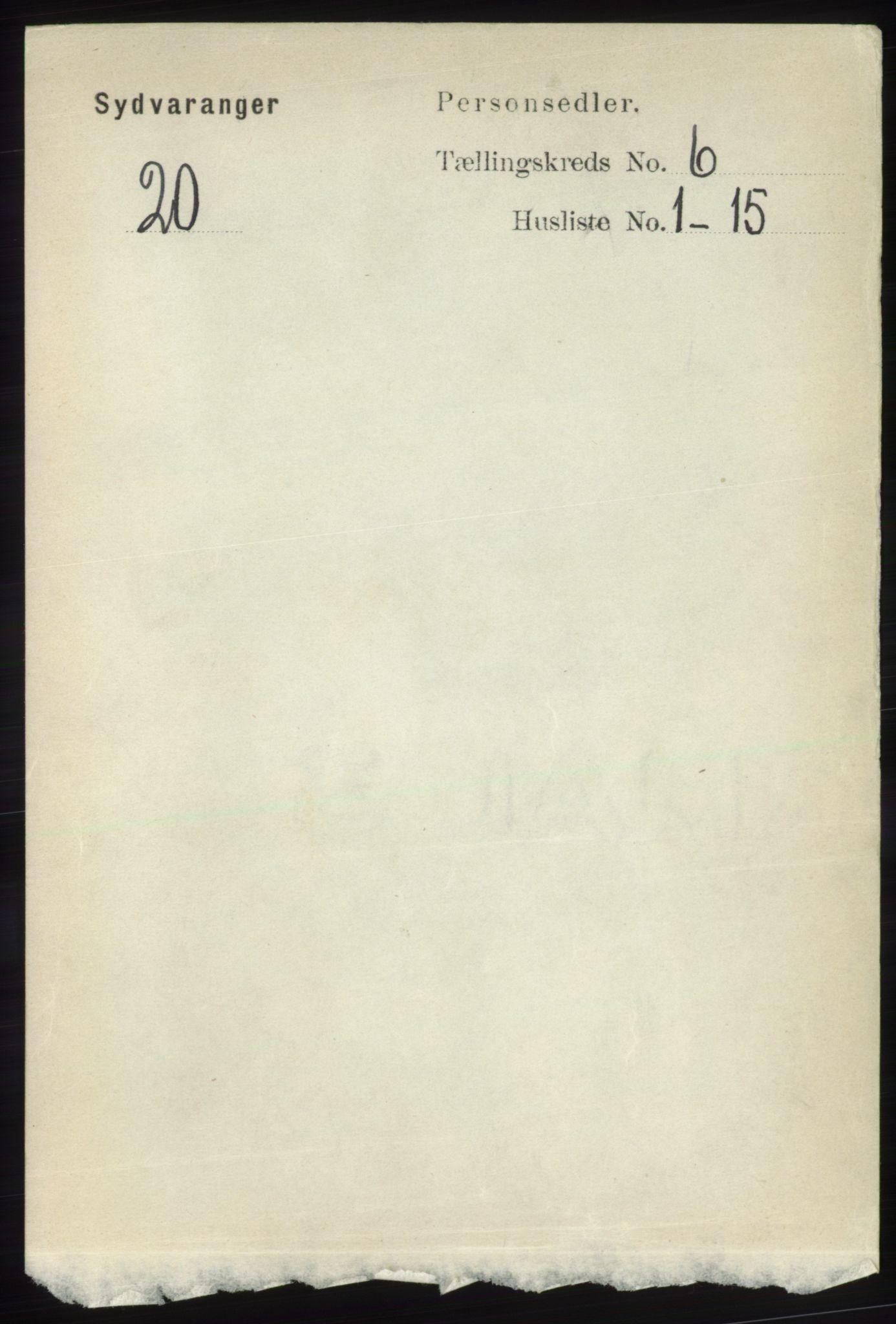 RA, Folketelling 1891 for 2030 Sør-Varanger herred, 1891, s. 1899