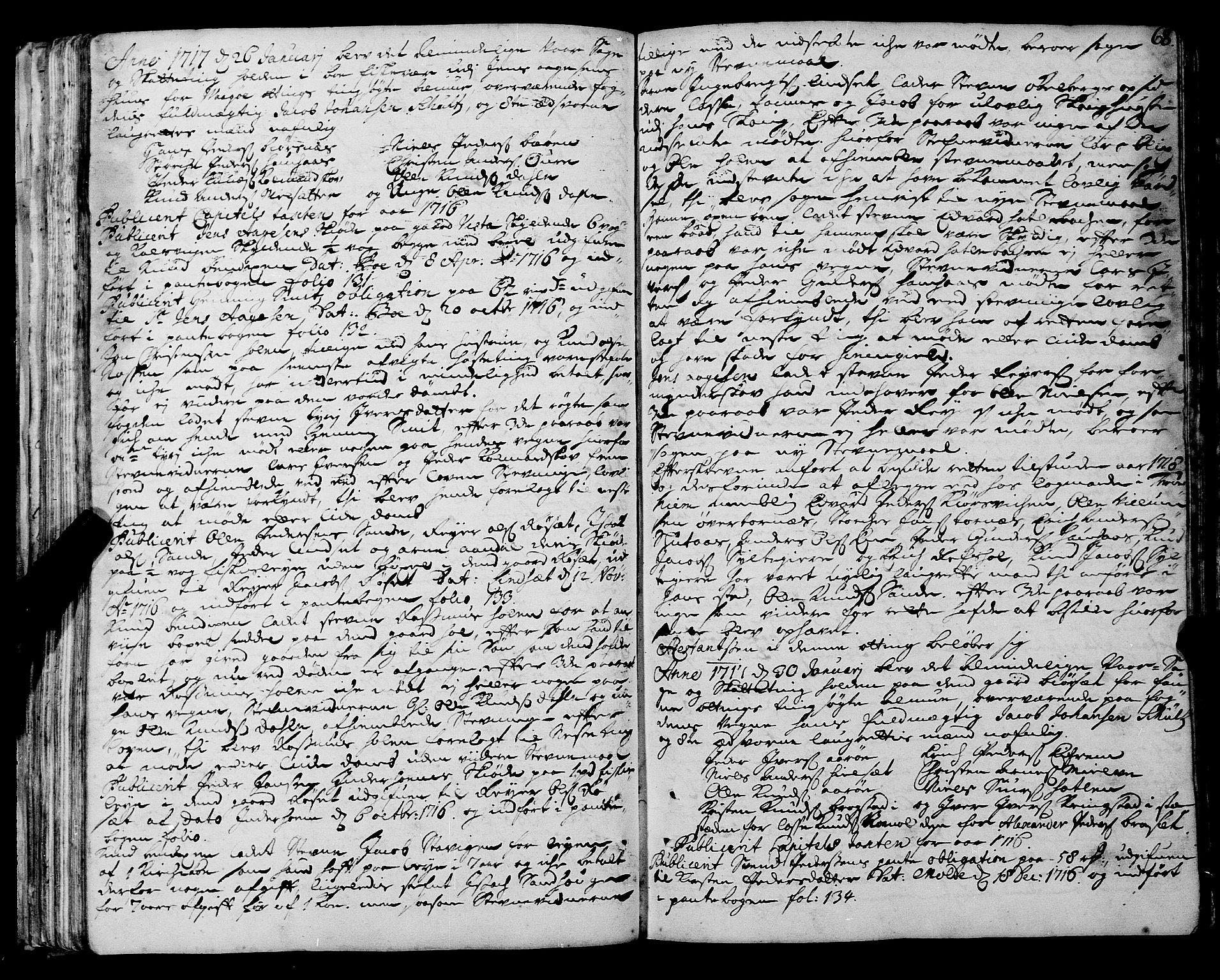 SAT, Romsdal sorenskriveri, 1/1A/L0008: Tingbok, 1714-1721, s. 67b-68a