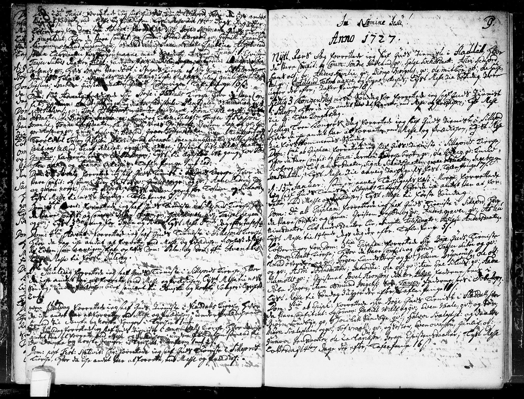 SAKO, Seljord kirkebøker, F/Fa/L0004: Ministerialbok nr. I 4, 1725-1736, s. 9