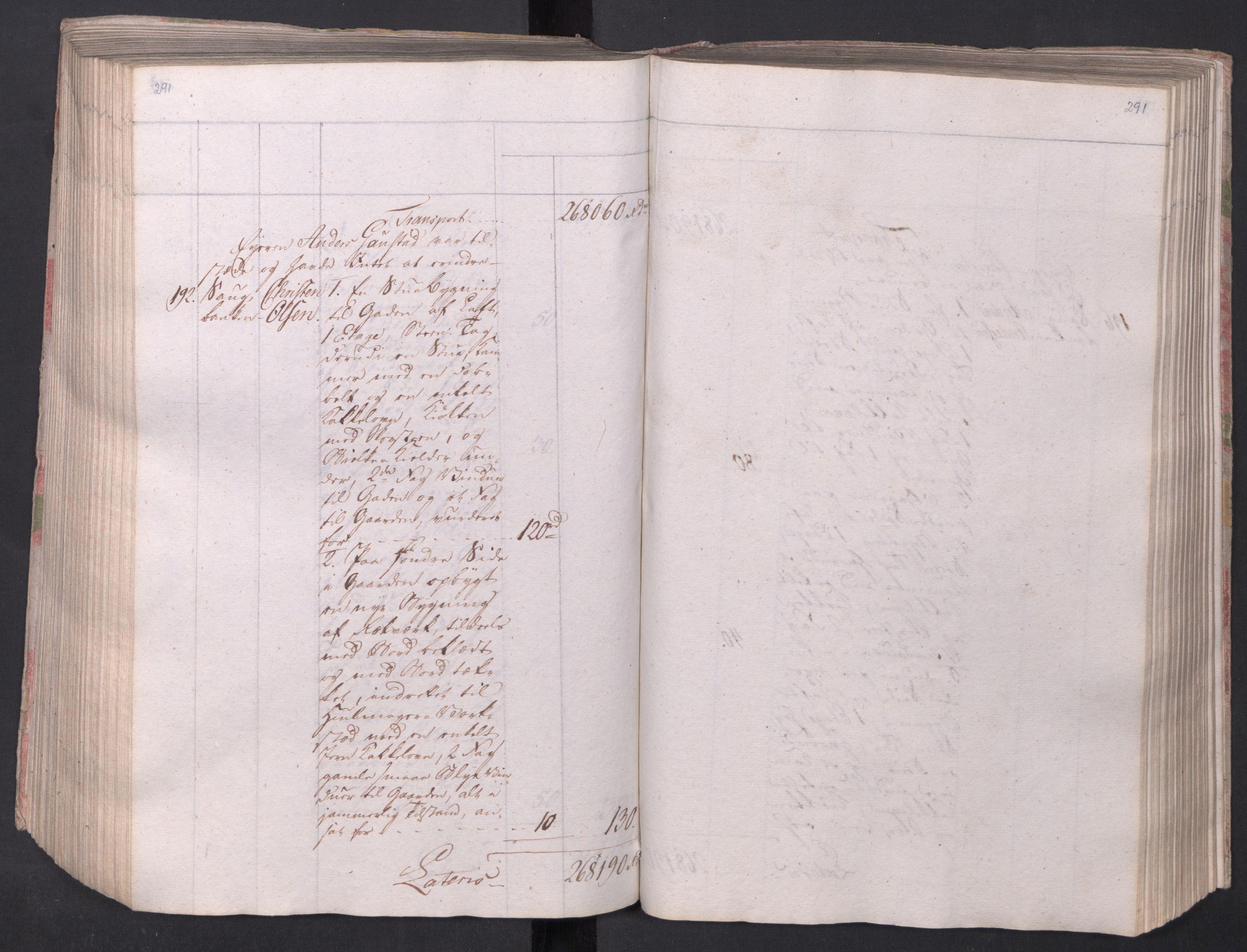 SAO, Kristiania stiftamt, I/Ia/L0015: Branntakster, 1797, s. 291