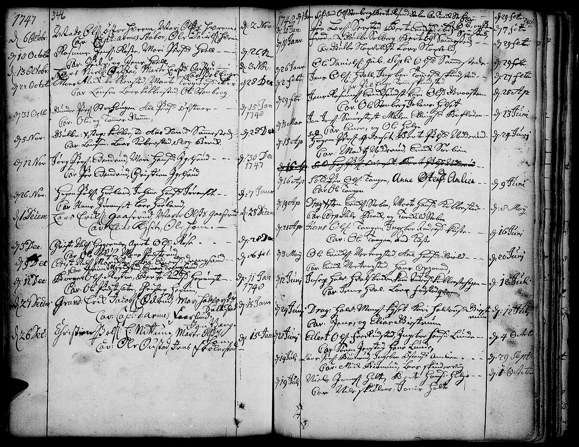 SAH, Toten prestekontor, Ministerialbok nr. 3, 1734-1751, s. 346-347