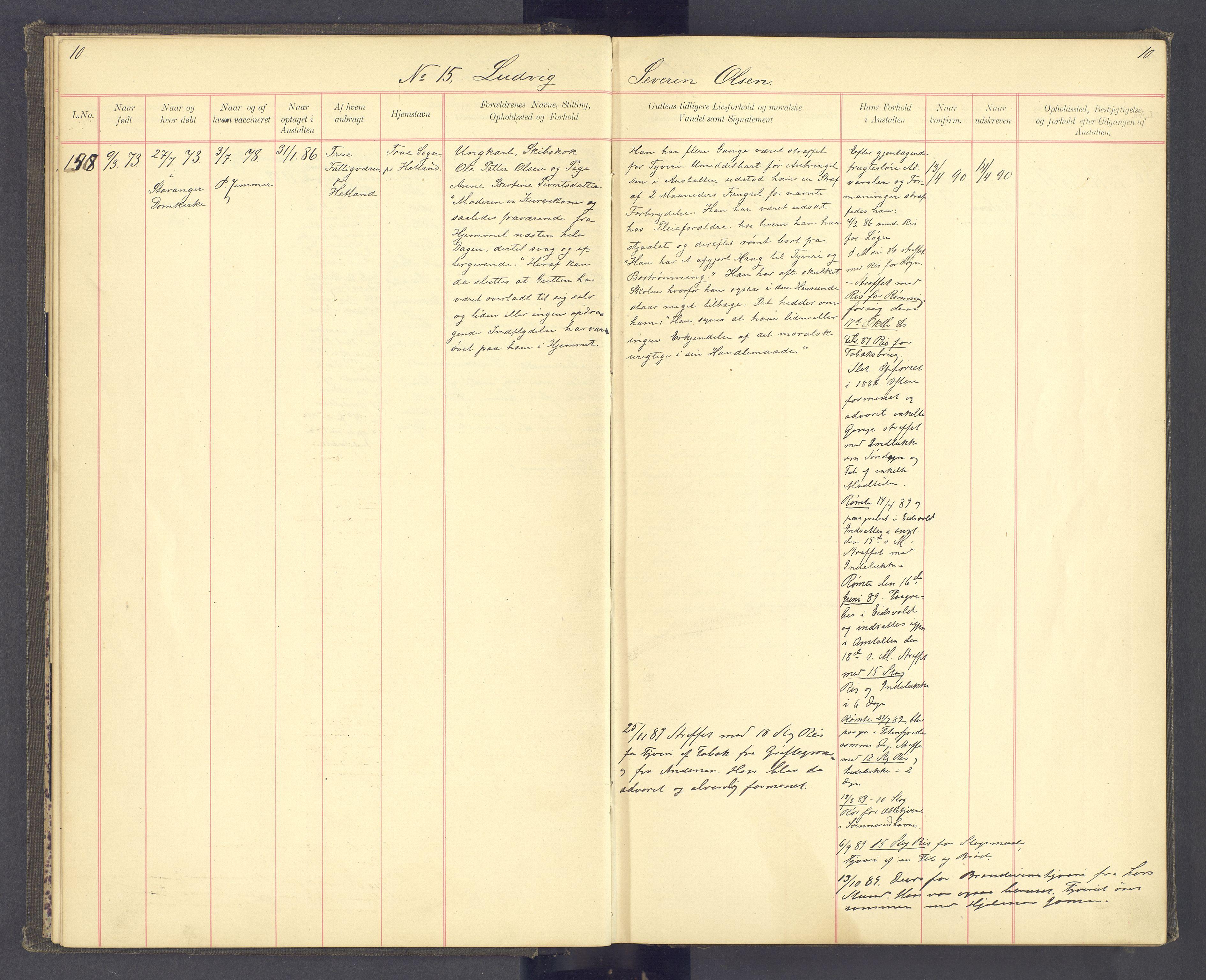 SAH, Toftes Gave, F/Fc/L0004: Elevprotokoll, 1885-1897, s. 10