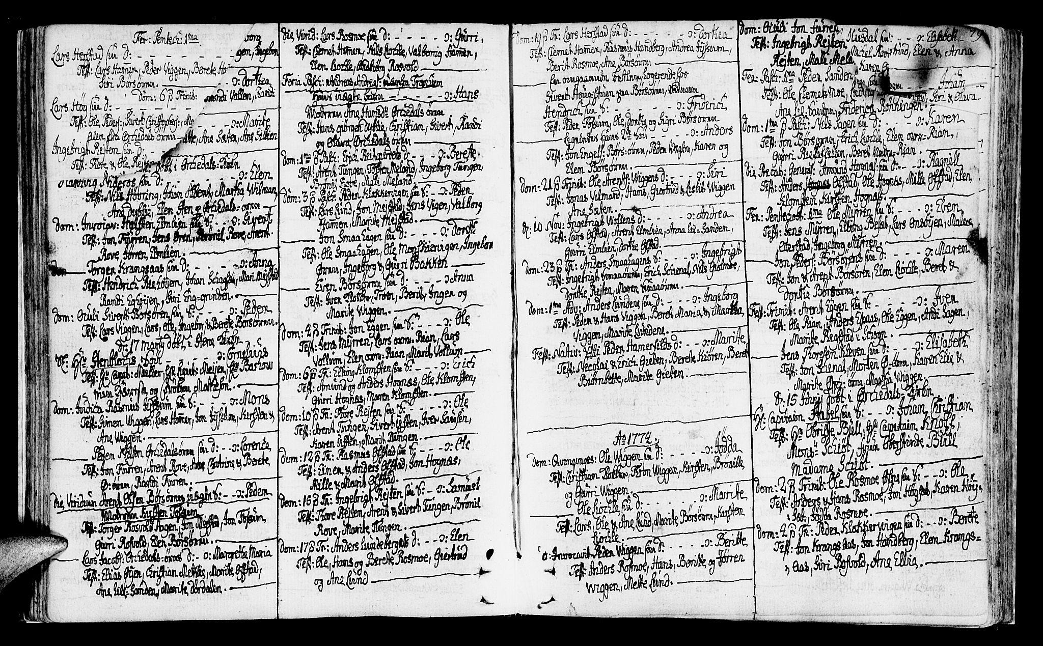 SAT, Ministerialprotokoller, klokkerbøker og fødselsregistre - Sør-Trøndelag, 665/L0768: Ministerialbok nr. 665A03, 1754-1803, s. 77