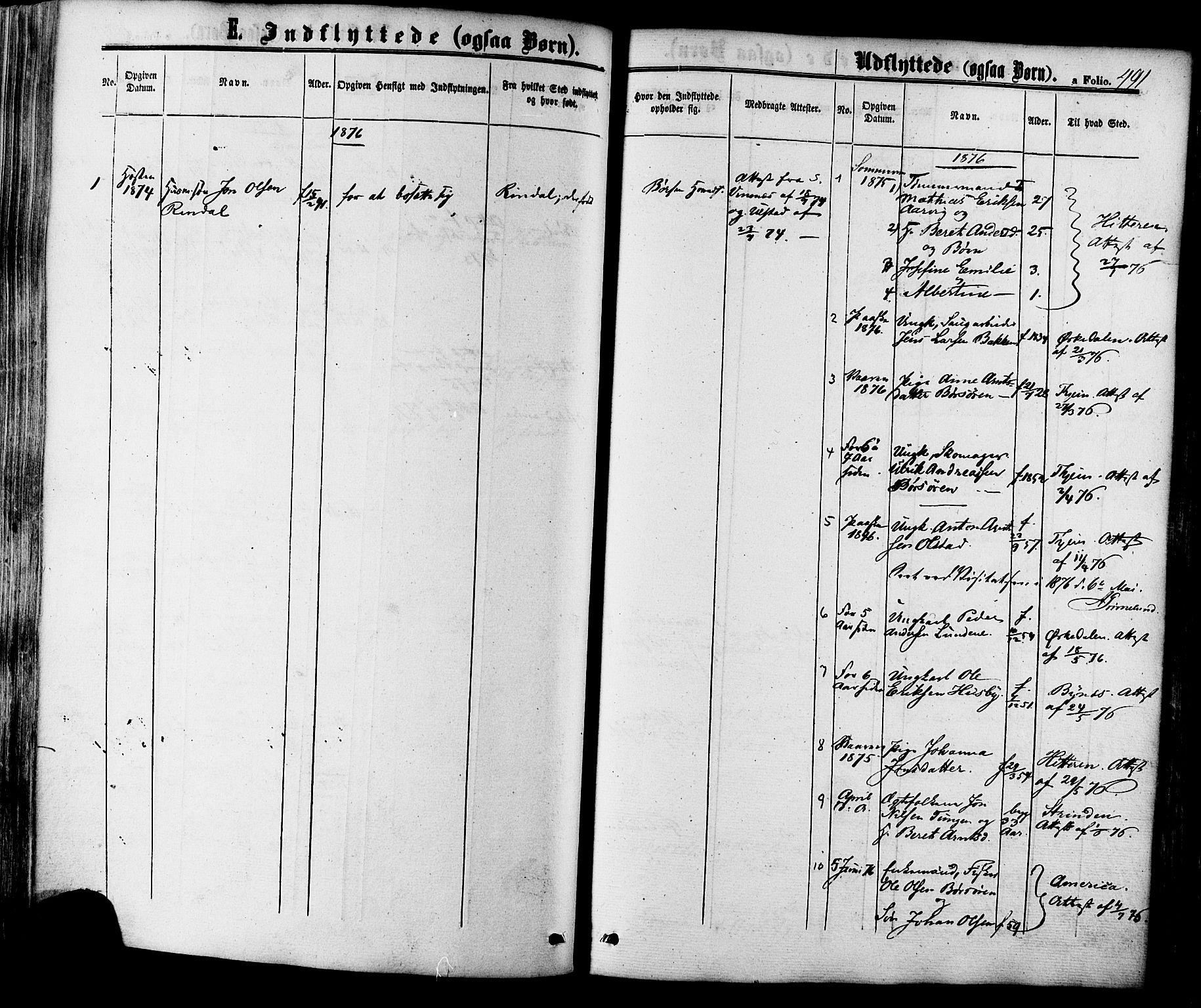 SAT, Ministerialprotokoller, klokkerbøker og fødselsregistre - Sør-Trøndelag, 665/L0772: Ministerialbok nr. 665A07, 1856-1878, s. 491