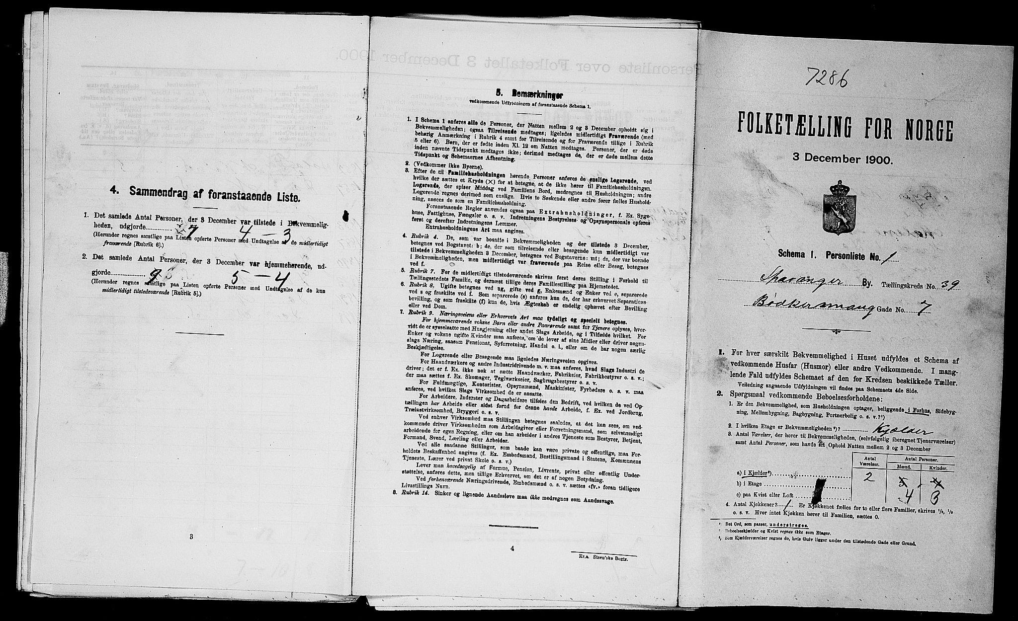 SAST, Folketelling 1900 for 1103 Stavanger kjøpstad, 1900, s. 14033