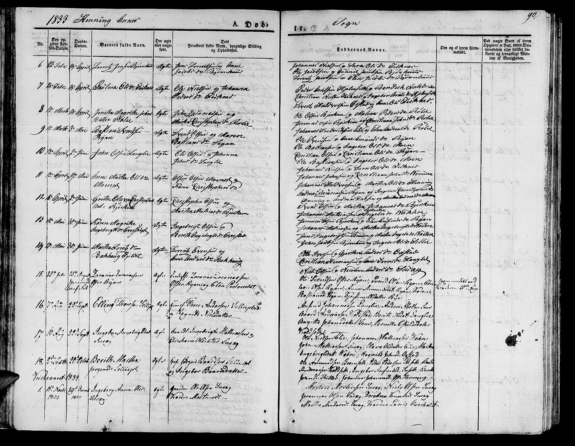 SAT, Ministerialprotokoller, klokkerbøker og fødselsregistre - Nord-Trøndelag, 735/L0336: Ministerialbok nr. 735A05 /3, 1825-1835, s. 90
