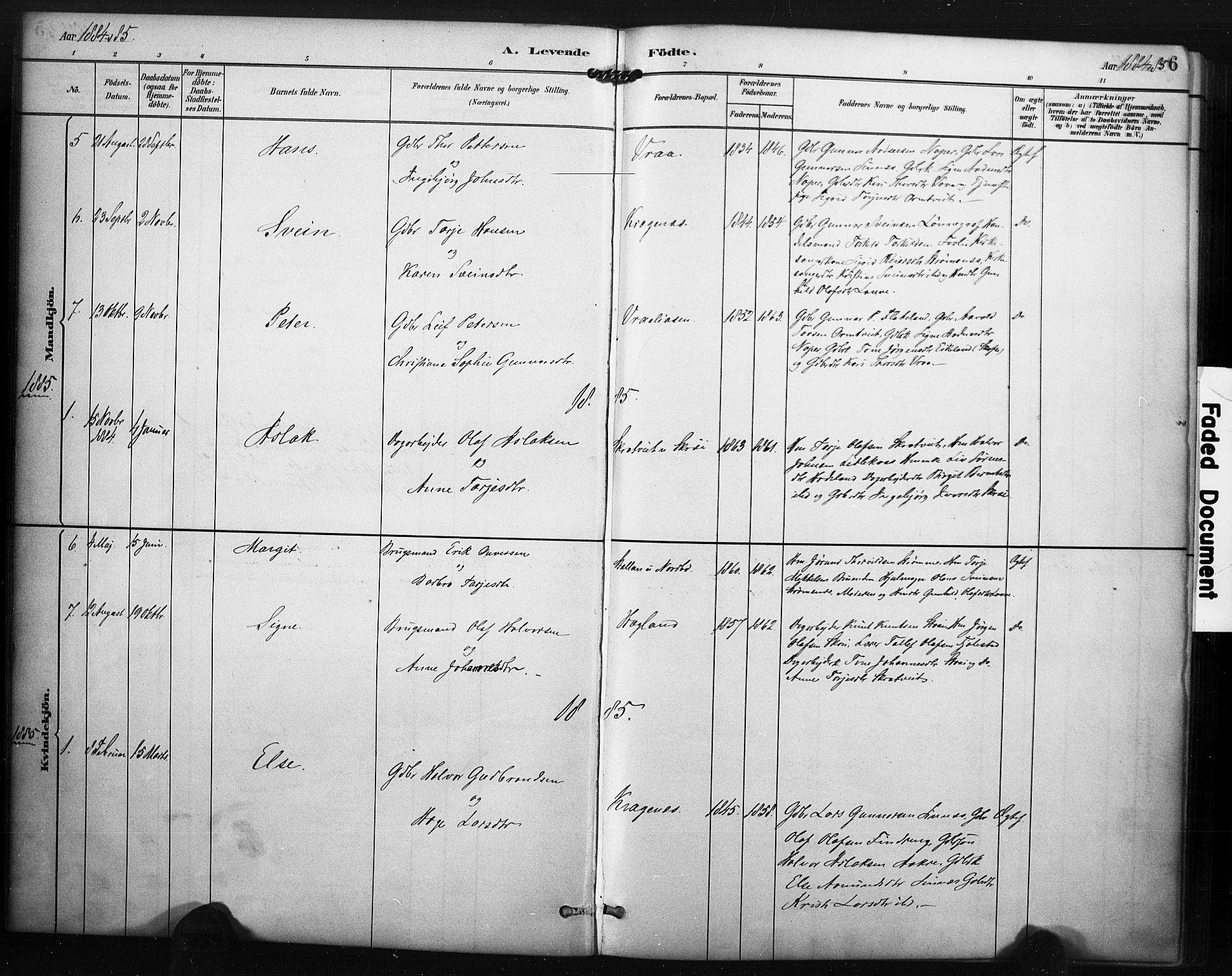 SAKO, Kviteseid kirkebøker, F/Fc/L0002: Ministerialbok nr. III 2, 1882-1908, s. 6