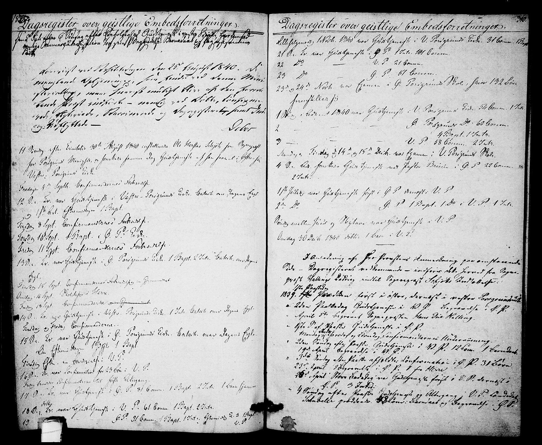 SAKO, Porsgrunn kirkebøker , F/Fa/L0005: Ministerialbok nr. 5, 1828-1840, s. 310