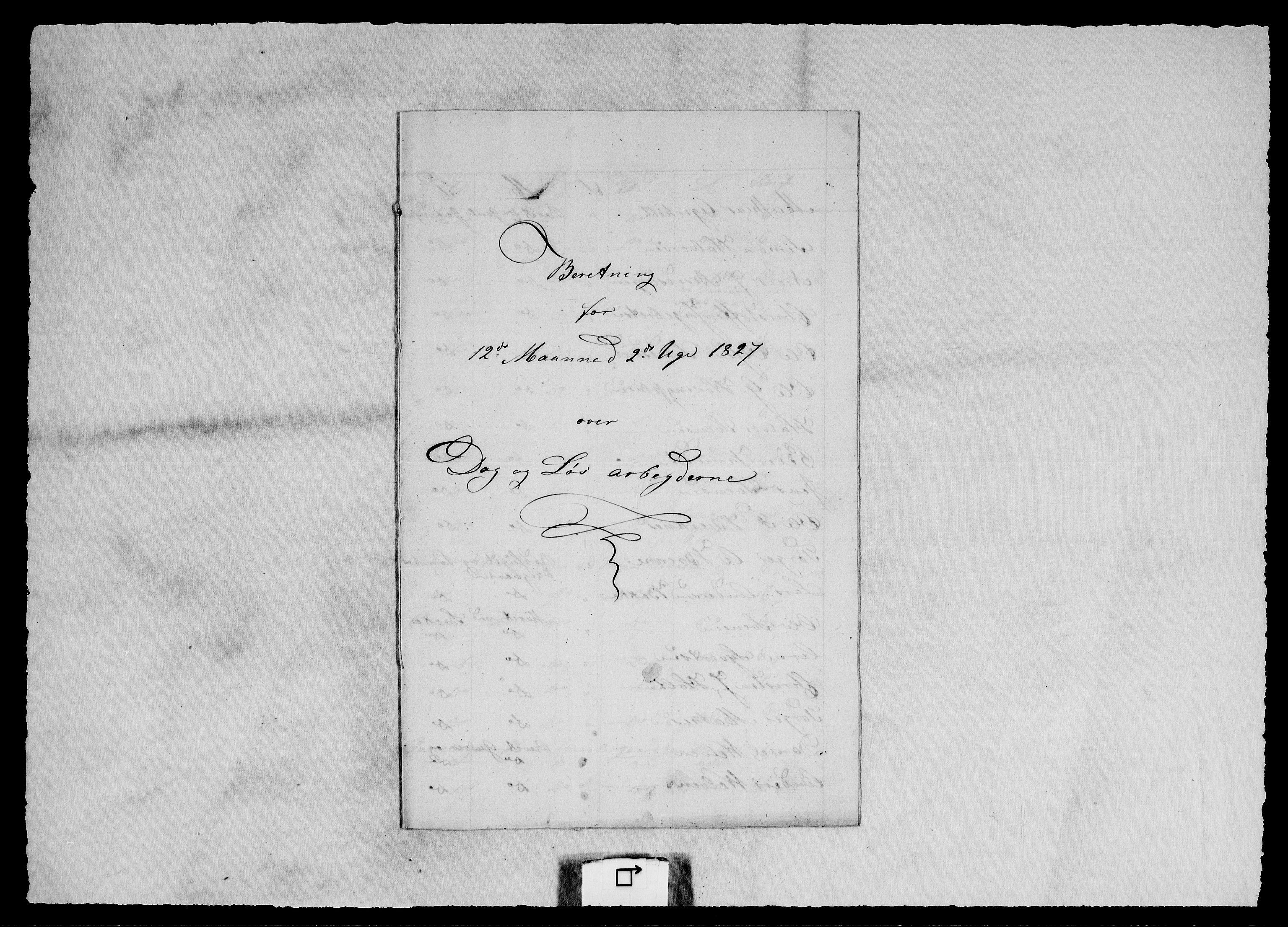 RA, Modums Blaafarveværk, G/Ge/L0364, 1827-1839, s. 2