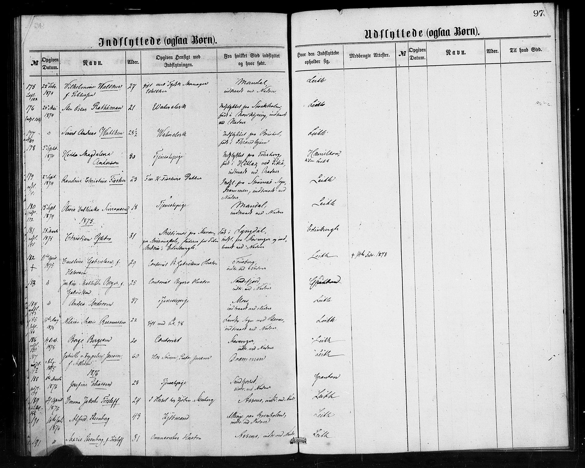 SAB, Den Norske Sjømannsmisjon i utlandet*, Ministerialbok nr. A 1, 1865-1880, s. 97