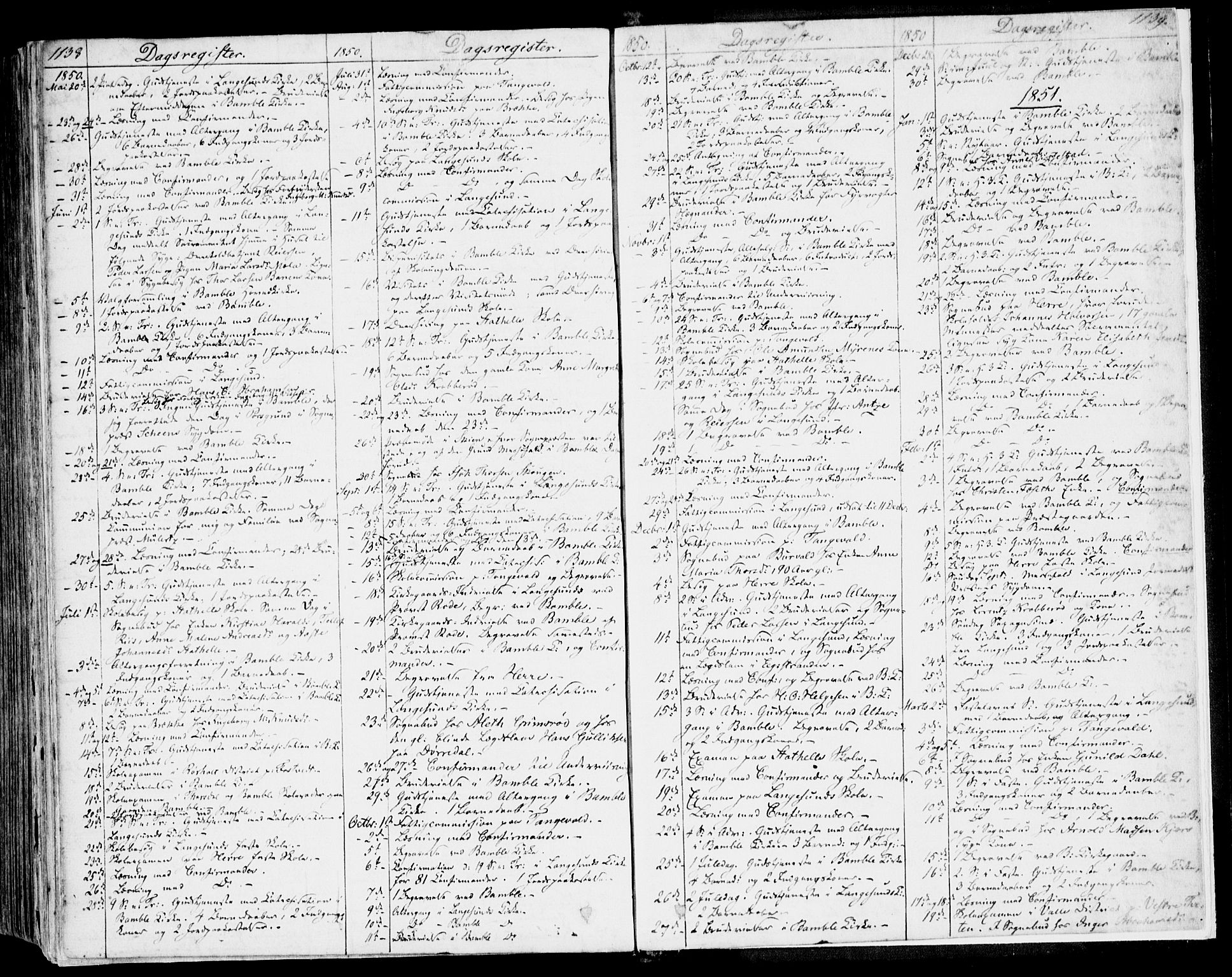 SAKO, Bamble kirkebøker, F/Fa/L0004: Ministerialbok nr. I 4, 1834-1853, s. 1138-1139
