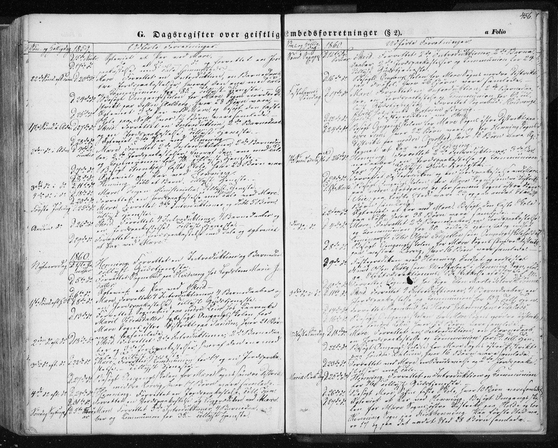 SAT, Ministerialprotokoller, klokkerbøker og fødselsregistre - Nord-Trøndelag, 735/L0342: Ministerialbok nr. 735A07 /1, 1849-1862, s. 456