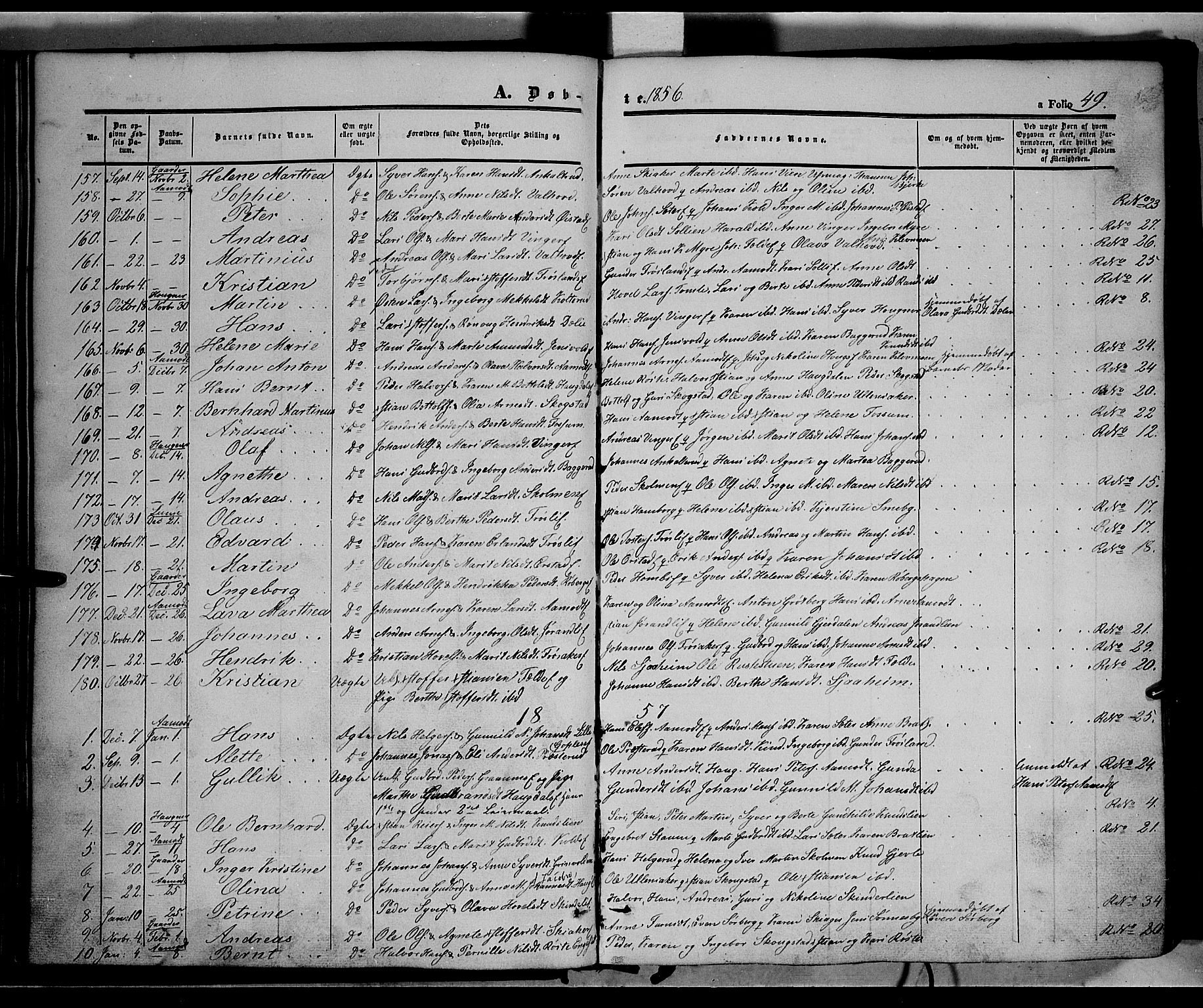 SAH, Land prestekontor, Ministerialbok nr. 10, 1847-1859, s. 49