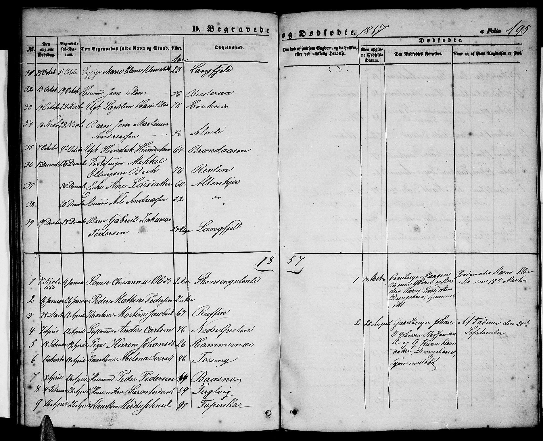 SAT, Ministerialprotokoller, klokkerbøker og fødselsregistre - Nordland, 827/L0414: Klokkerbok nr. 827C03, 1853-1865, s. 195