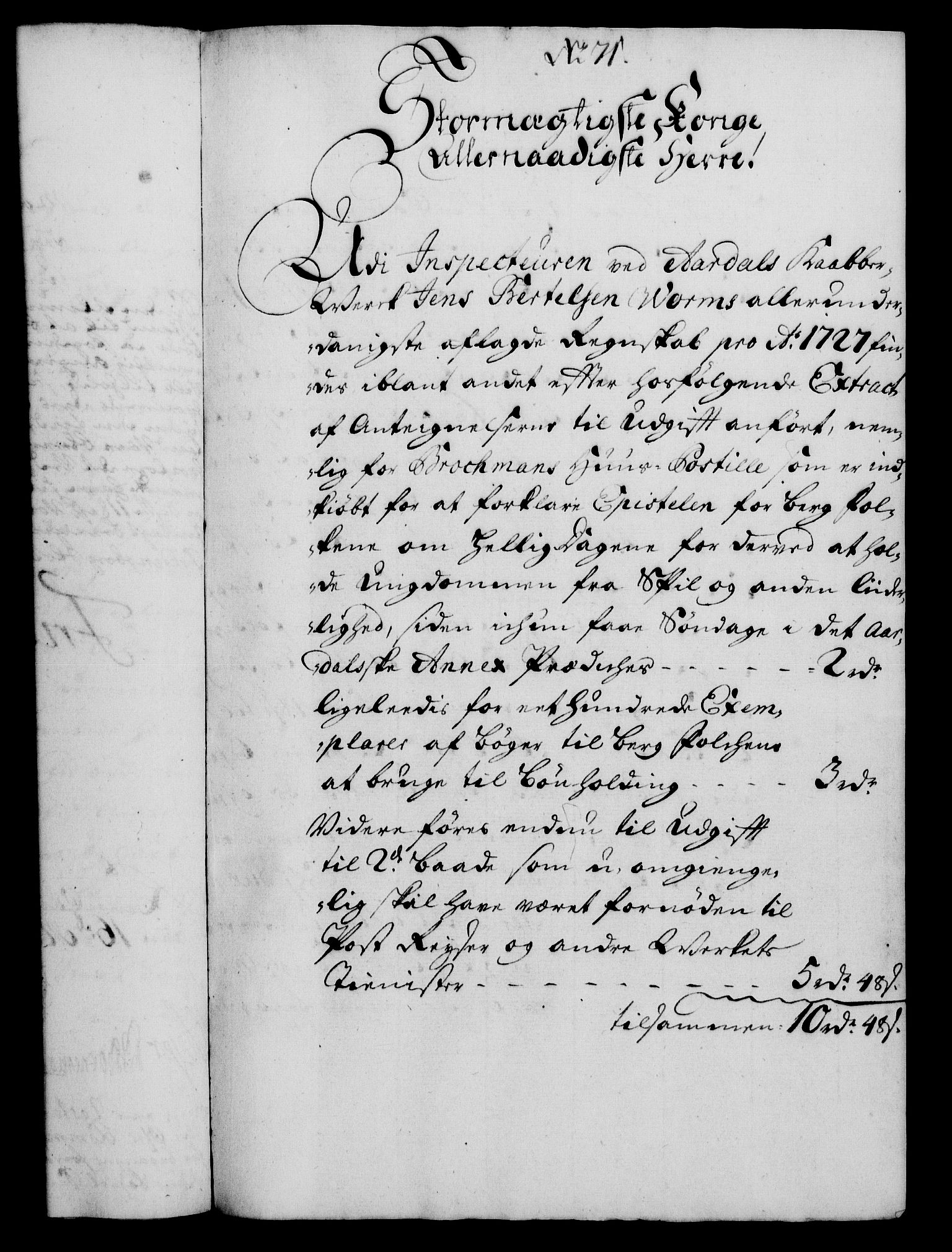 RA, Rentekammeret, Kammerkanselliet, G/Gf/Gfa/L0012: Norsk relasjons- og resolusjonsprotokoll (merket RK 52.12), 1729, s. 375