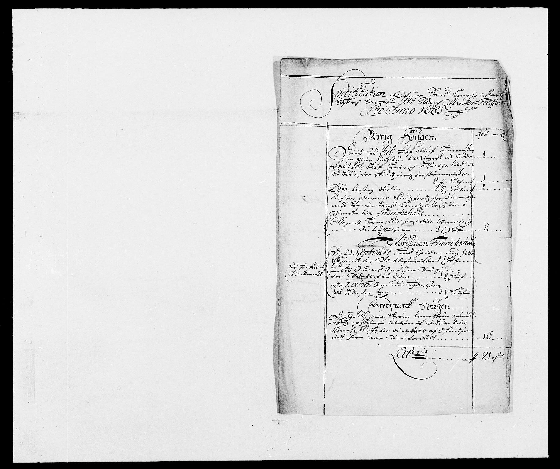 RA, Rentekammeret inntil 1814, Reviderte regnskaper, Fogderegnskap, R01/L0006: Fogderegnskap Idd og Marker, 1685-1686, s. 66
