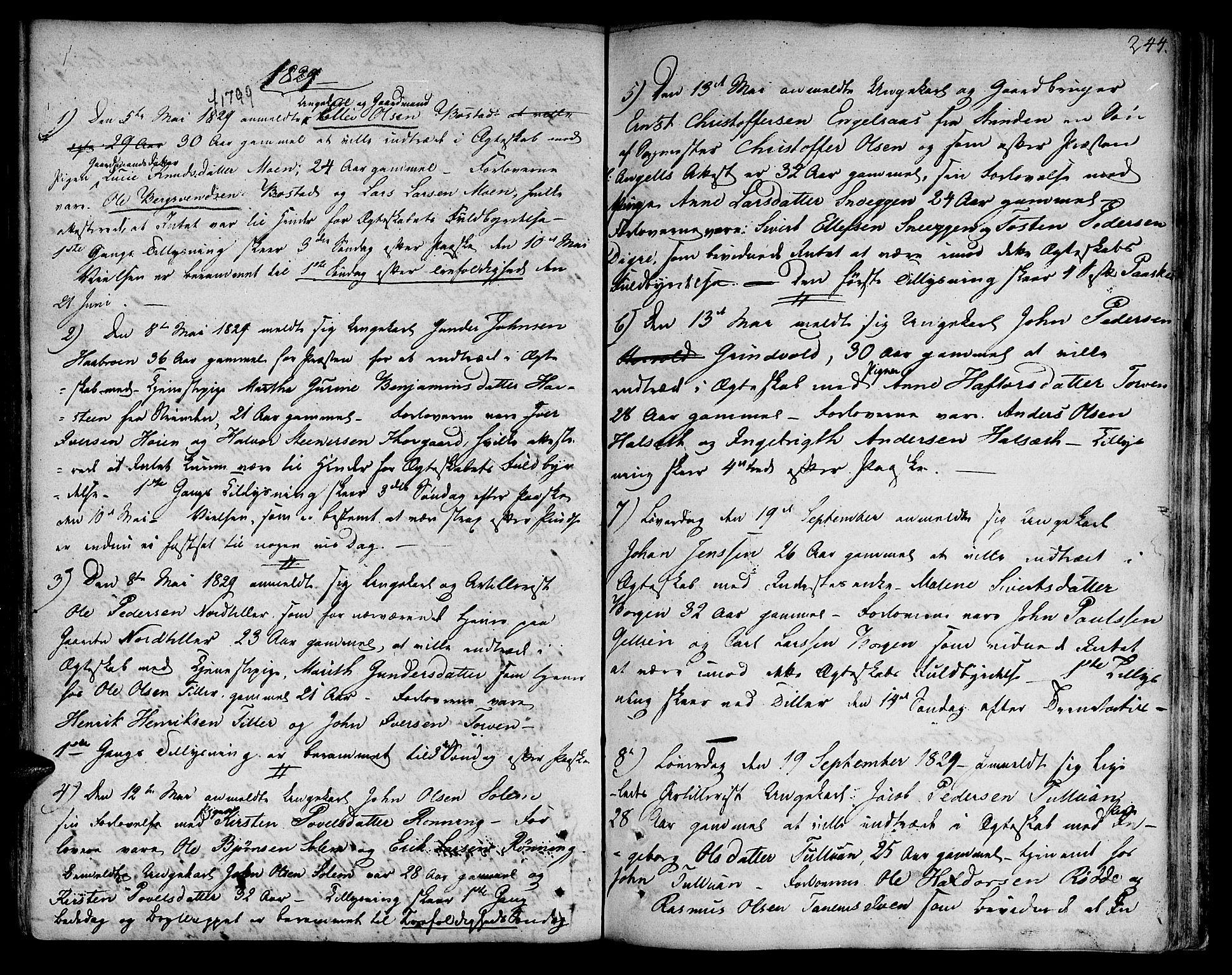 SAT, Ministerialprotokoller, klokkerbøker og fødselsregistre - Sør-Trøndelag, 618/L0438: Ministerialbok nr. 618A03, 1783-1815, s. 244