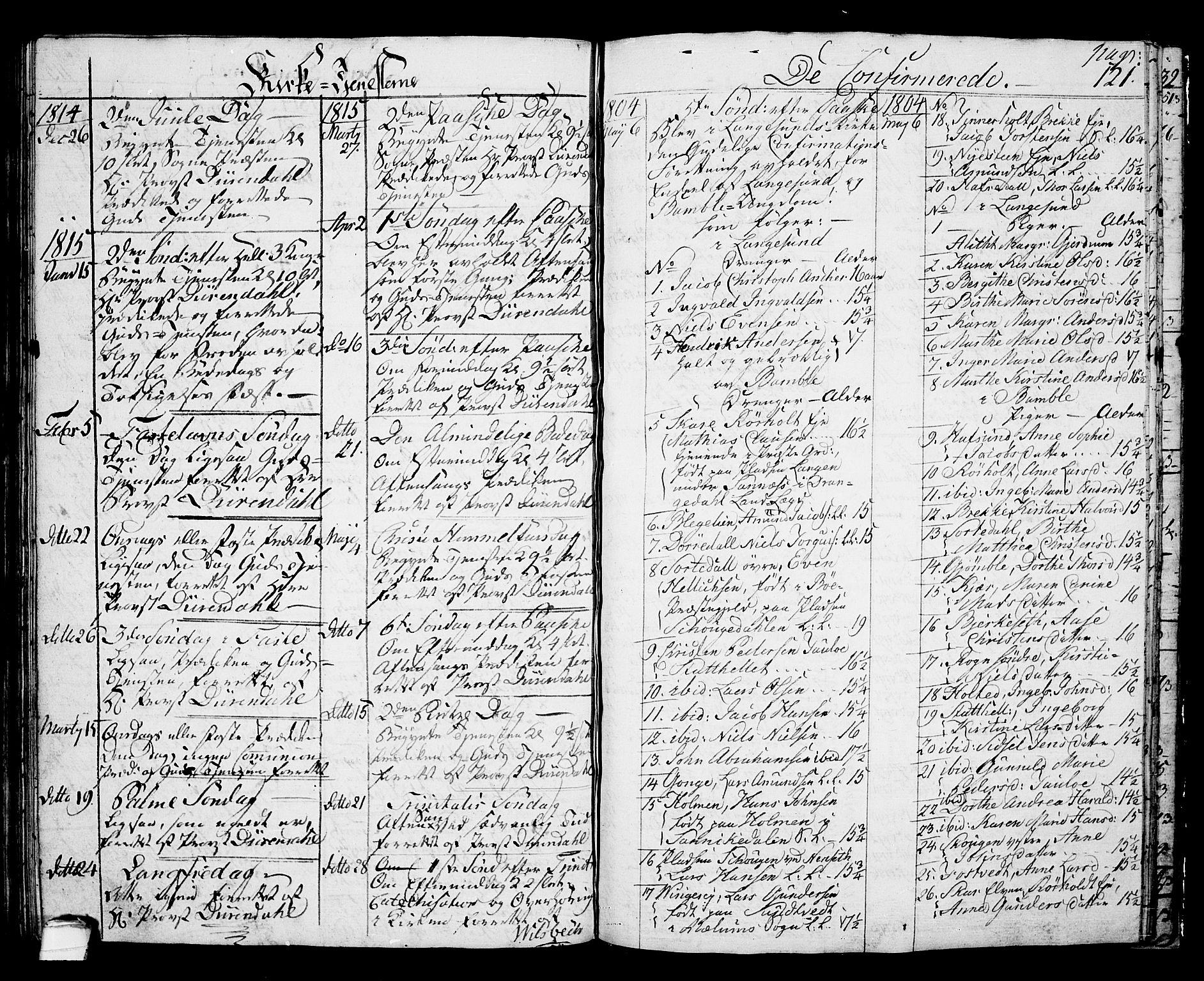 SAKO, Langesund kirkebøker, G/Ga/L0002: Klokkerbok nr. 2, 1801-1815, s. 116
