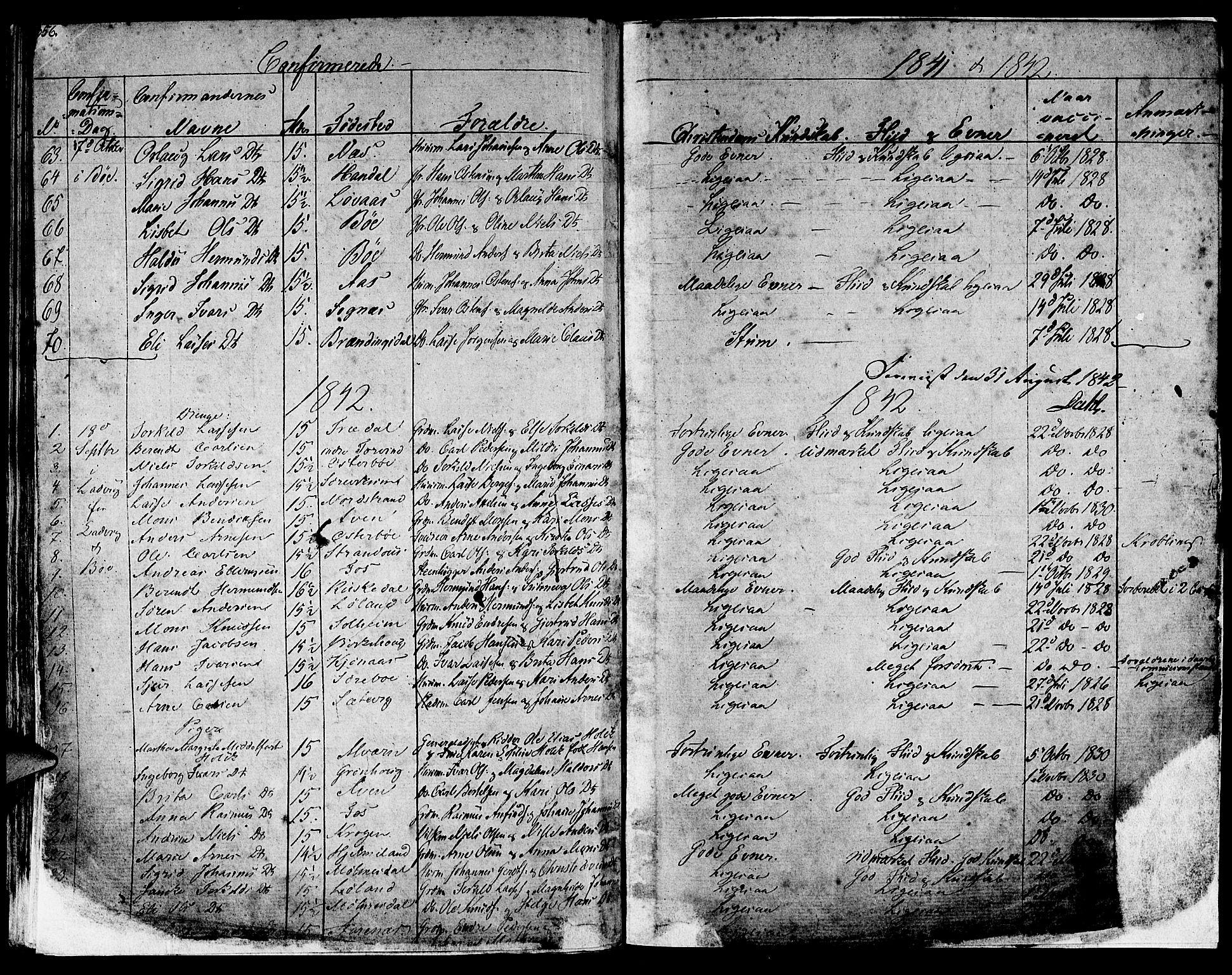 SAB, Lavik sokneprestembete, Ministerialbok nr. A 2I, 1821-1842, s. 356