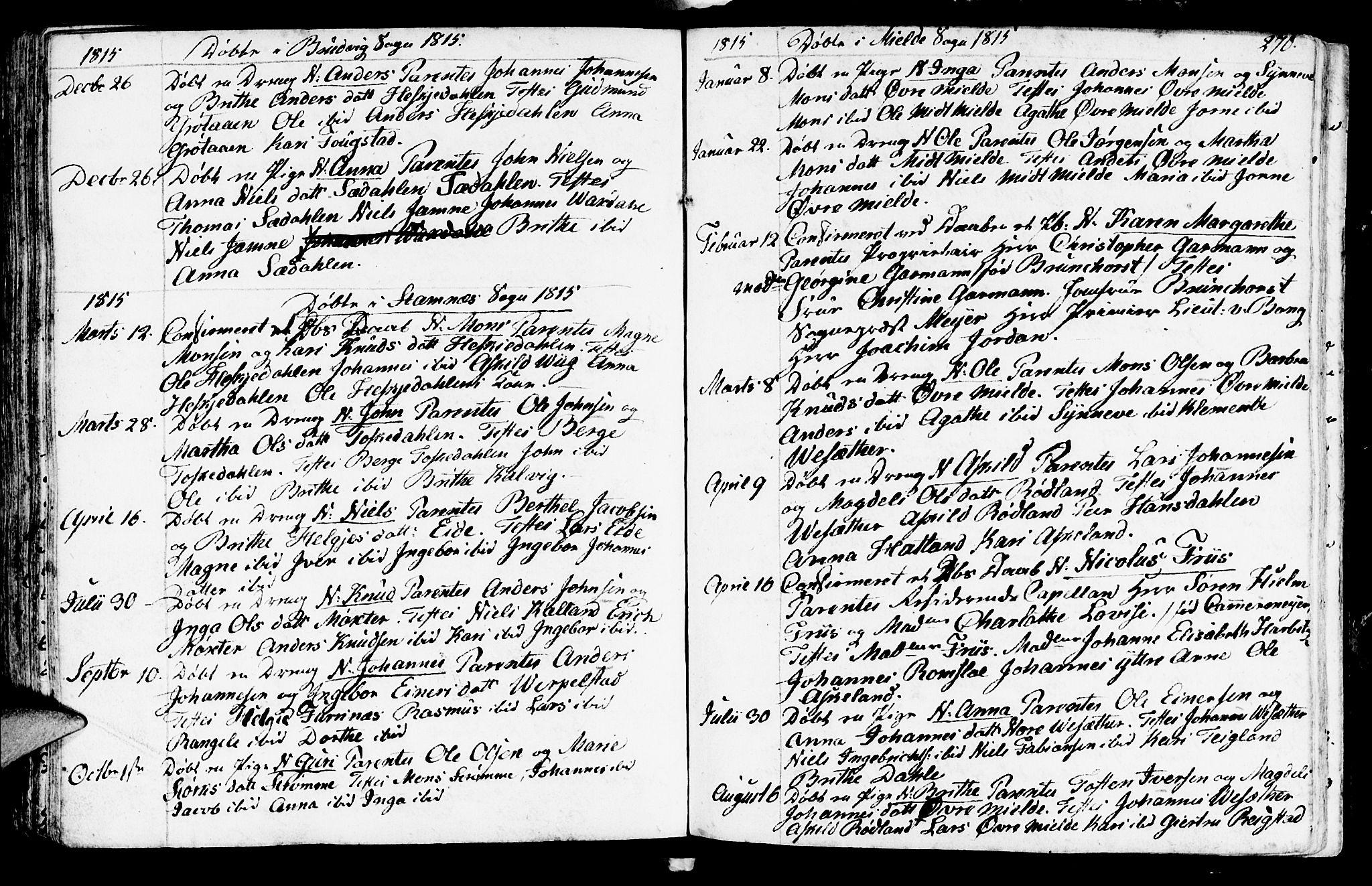 SAB, Haus sokneprestembete, H/Haa: Ministerialbok nr. A 11, 1796-1816, s. 270