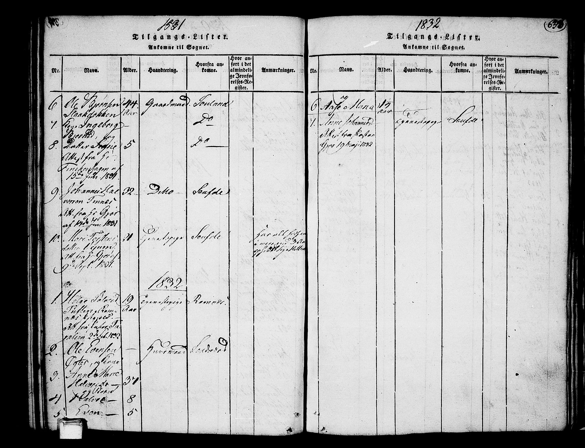 SAKO, Heddal kirkebøker, F/Fa/L0005: Ministerialbok nr. I 5, 1814-1837, s. 635-636