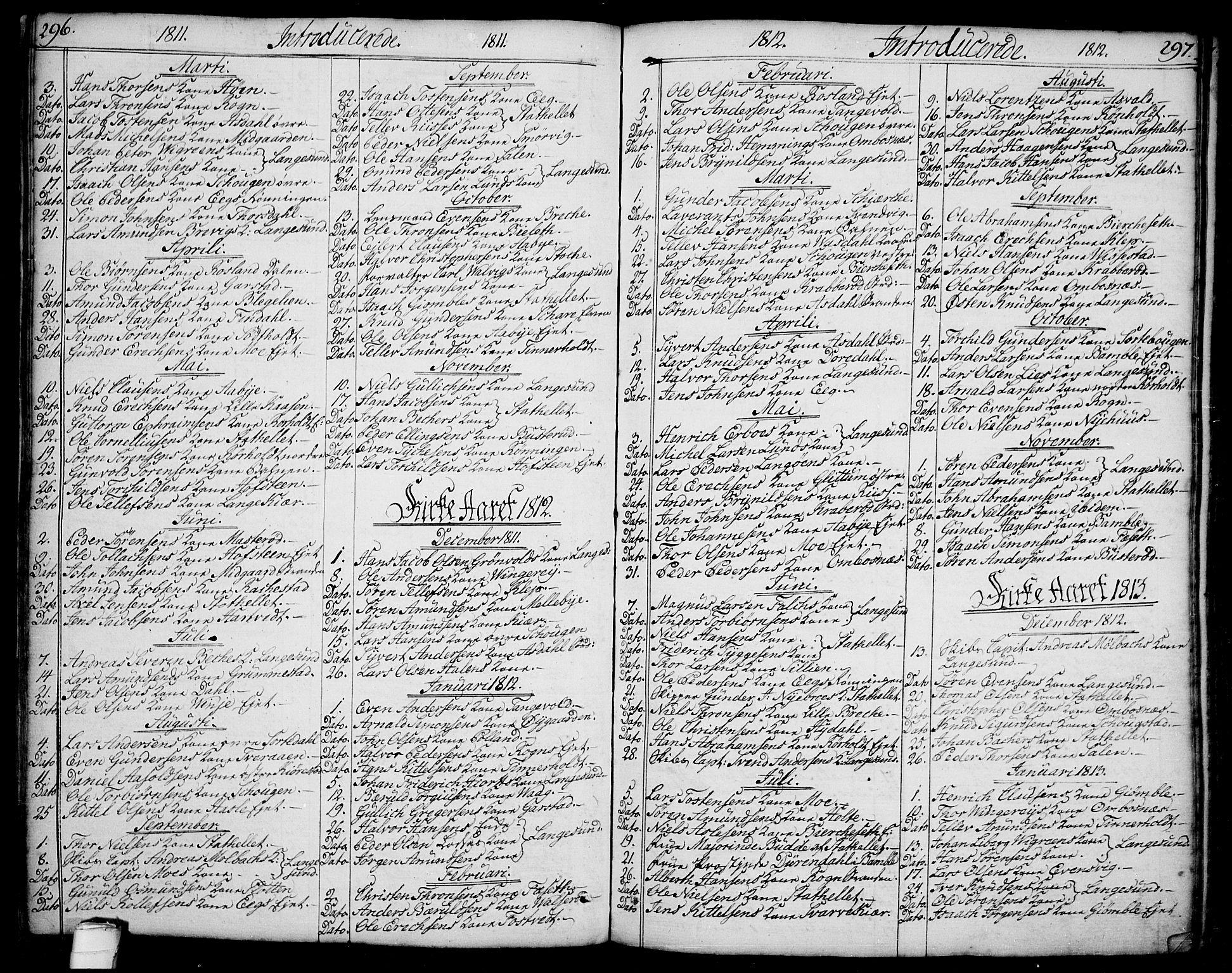 SAKO, Bamble kirkebøker, F/Fa/L0002: Ministerialbok nr. I 2, 1775-1814, s. 296-297