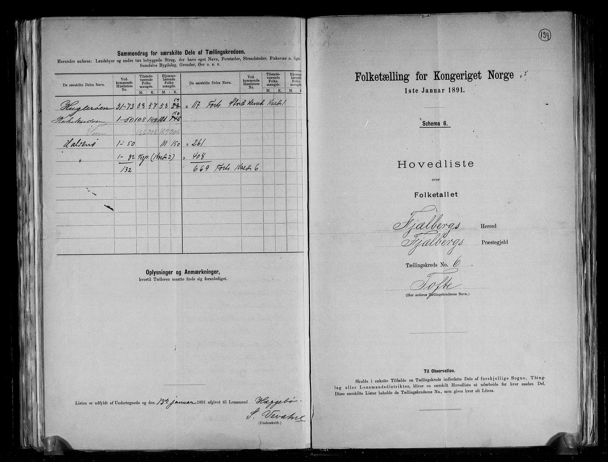RA, Folketelling 1891 for 1213 Fjelberg herred, 1891, s. 15