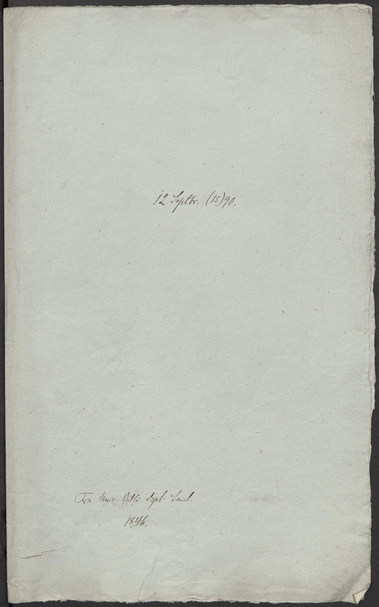 RA, Riksarkivets diplomsamling, F02/L0092: Dokumenter, 1590, s. 12