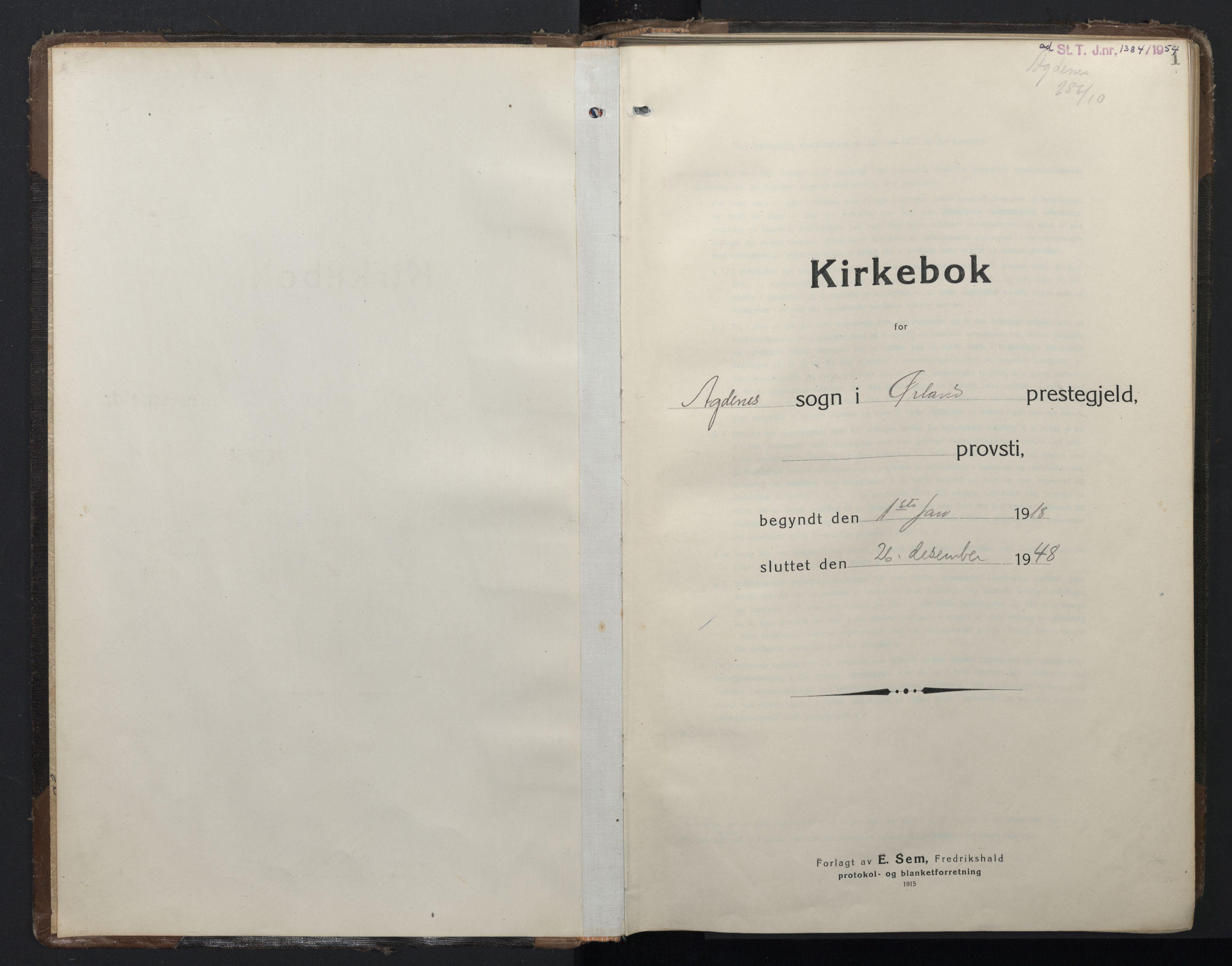 SAT, Ministerialprotokoller, klokkerbøker og fødselsregistre - Sør-Trøndelag, 662/L0758: Klokkerbok nr. 662C03, 1918-1948, s. 1
