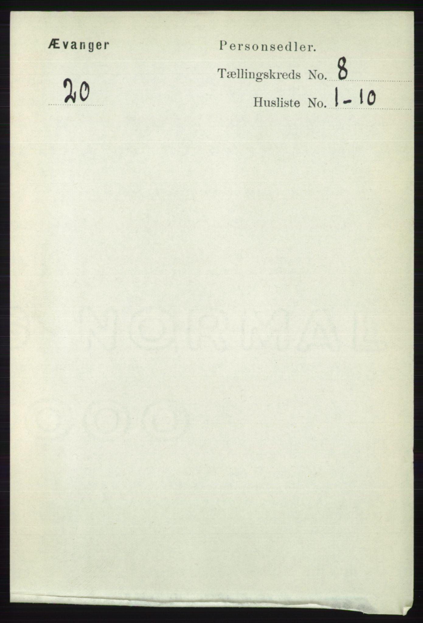 RA, Folketelling 1891 for 1237 Evanger herred, 1891, s. 2257