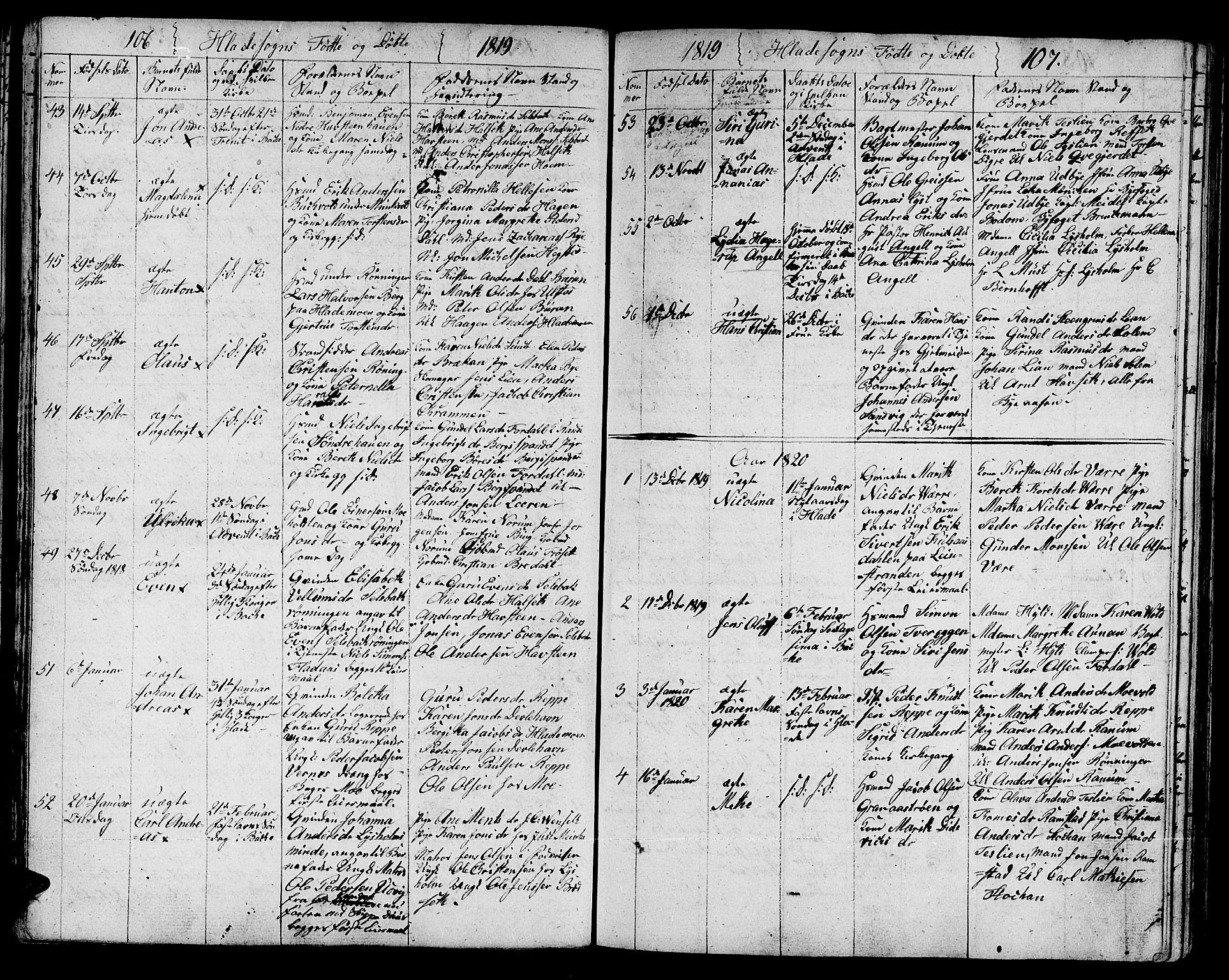 SAT, Ministerialprotokoller, klokkerbøker og fødselsregistre - Sør-Trøndelag, 606/L0306: Klokkerbok nr. 606C02, 1797-1829, s. 106-107
